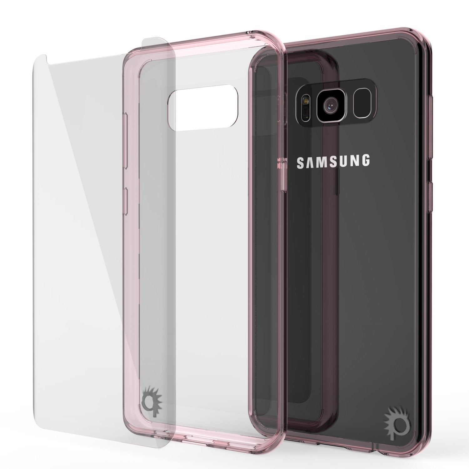 S8 Case Punkcase® LUCID 2.0 Crystal Pink Series w/ PUNK SHIELD Screen Protector | Ultra Fit