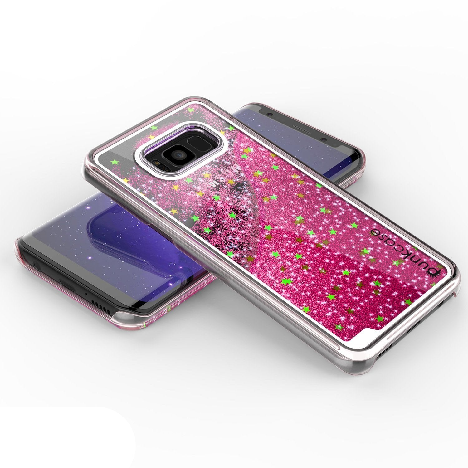 Galaxy S8 Case, Punkcase [Liquid Series] Protective Dual Layer Floating Glitter Cover + PunkShield Screen Protector for Samsung S8 [Pink]