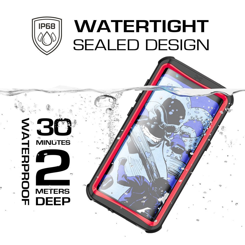 Galaxy S8 Waterproof Case, Ghostek Nautical Series (Red) | Slim Underwater Full Body Protection