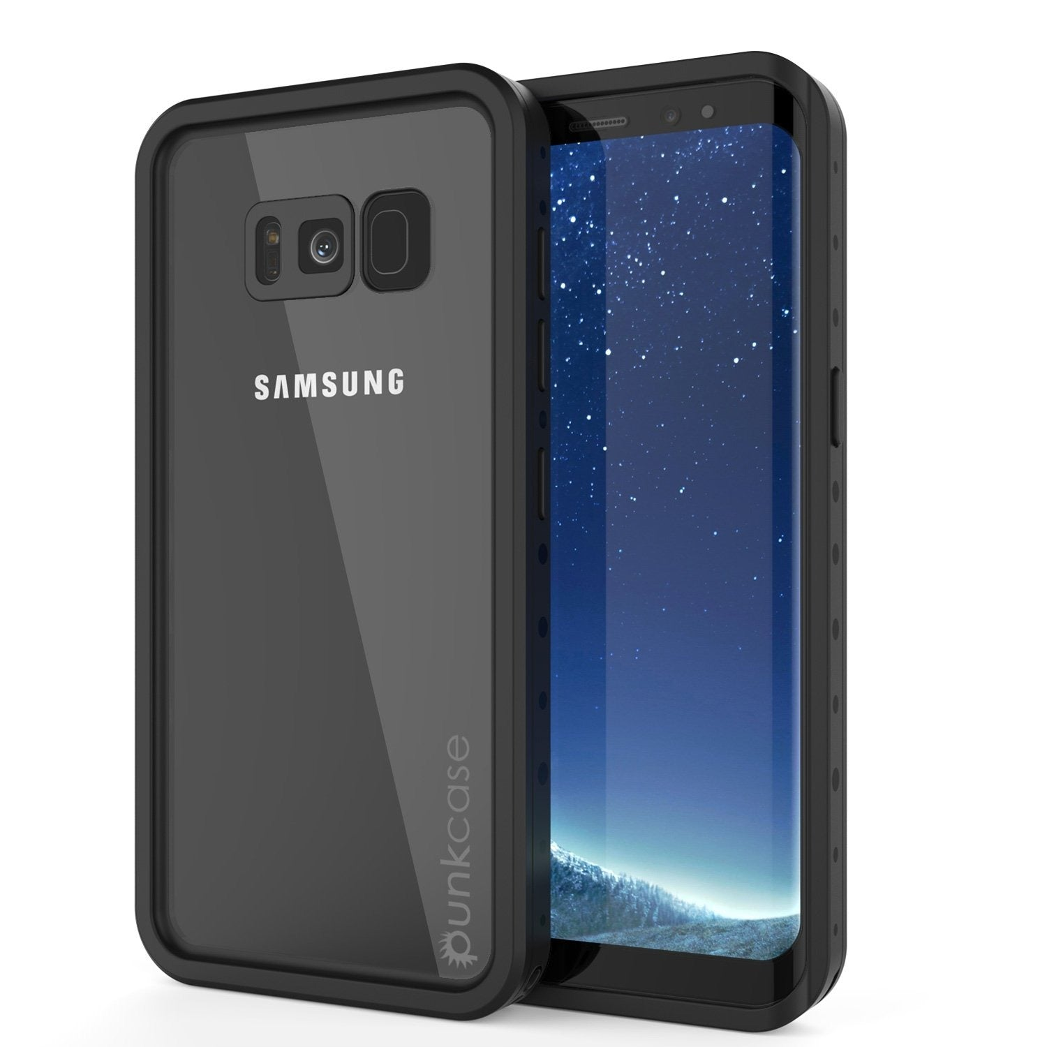 Galaxy S8 Waterproof Case PunkCase StudStar Clear Thin 6.6ft Underwater IP68 Shock/Snow Proof