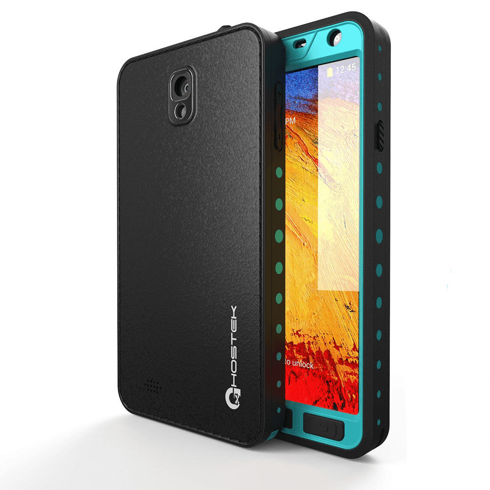Ghostek Atomic Samsung Galaxy Note 3 Teal Water/Shock/Dirt/Snow Proof | Lifetime Warranty