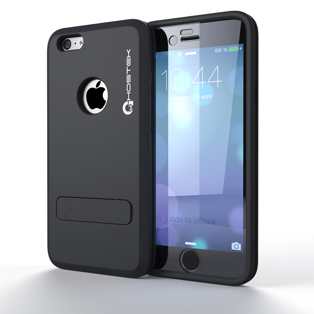 iPhone 6 Plus  Case, Ghostek bullet Charcoal Case W/ Attached Screen Protector - Lifetime Warranty