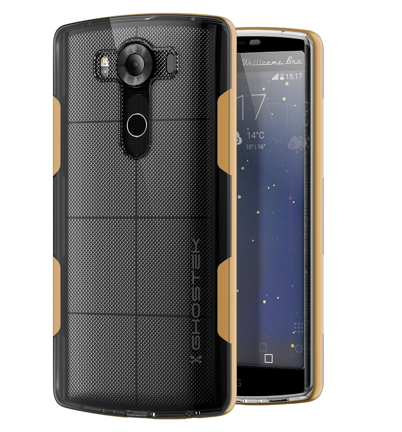 LG V10 Case, Ghostek® Cloak Gold Slim Hybrid Impact Armor Cover | Lifetime Warranty Exchange