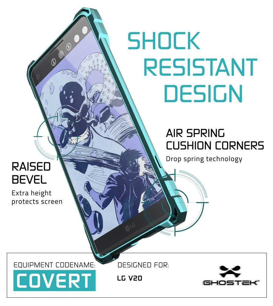 LG v20 Case, Ghostek® Covert Teal, Premium Impact Protective Armor | Lifetime Warranty Exchange