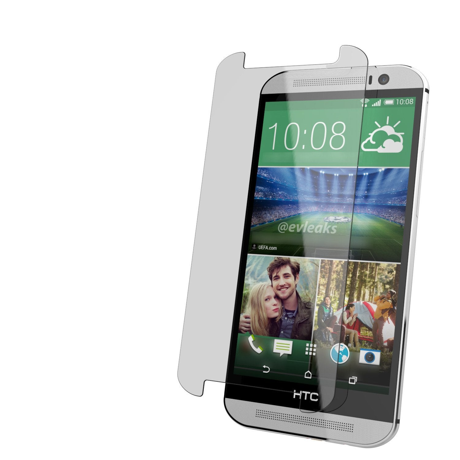 M8 Tempered Glass Screen Protector, Punkcase SHIELD for HTC One M8 0.33mm Thick 9H