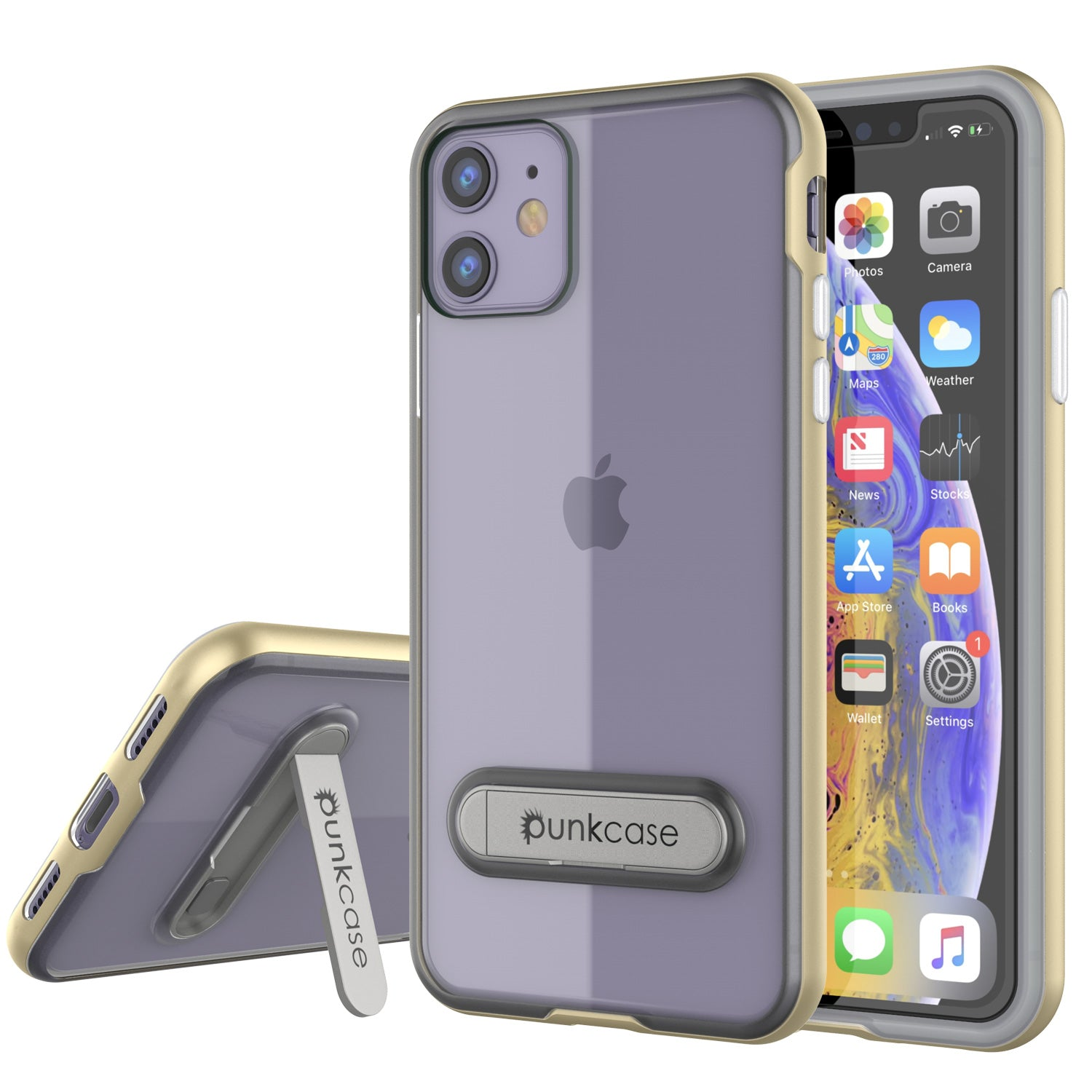 iPhone 11 Case, PUNKcase [LUCID 3.0 Series] [Slim Fit] Armor Cover w/ Integrated Screen Protector [Gold]