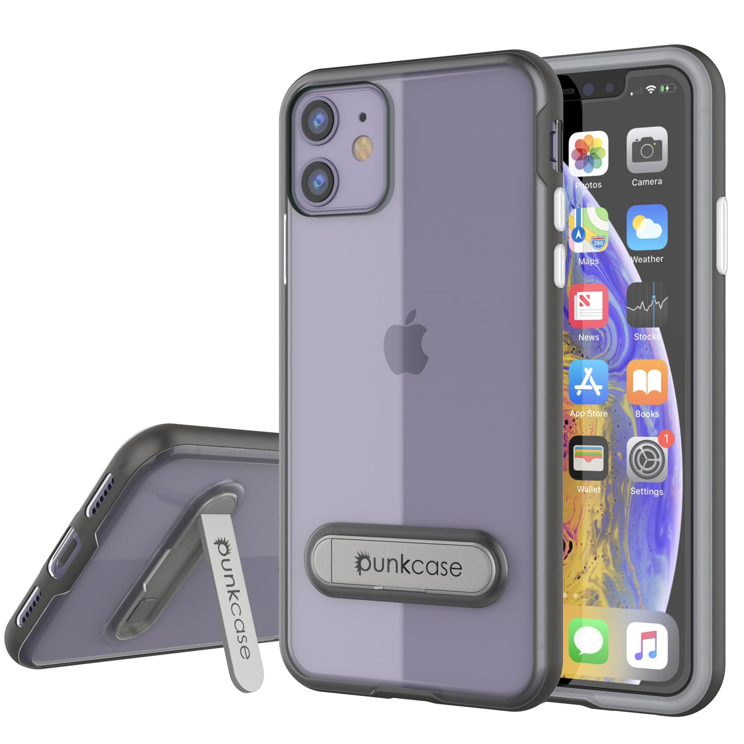 iPhone 11 Case, PUNKcase [LUCID 3.0 Series] [Slim Fit] Armor Cover w/ Integrated Screen Protector [Grey]