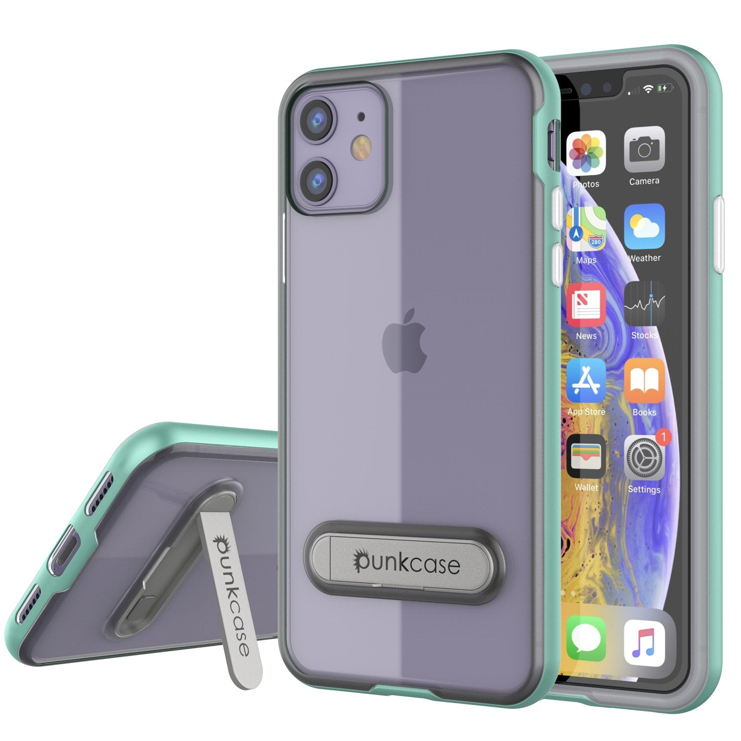 iPhone 12 Case, PUNKcase [LUCID 3.0 Series] [Slim Fit] Protective Cover w/ Integrated Screen Protector [Teal]