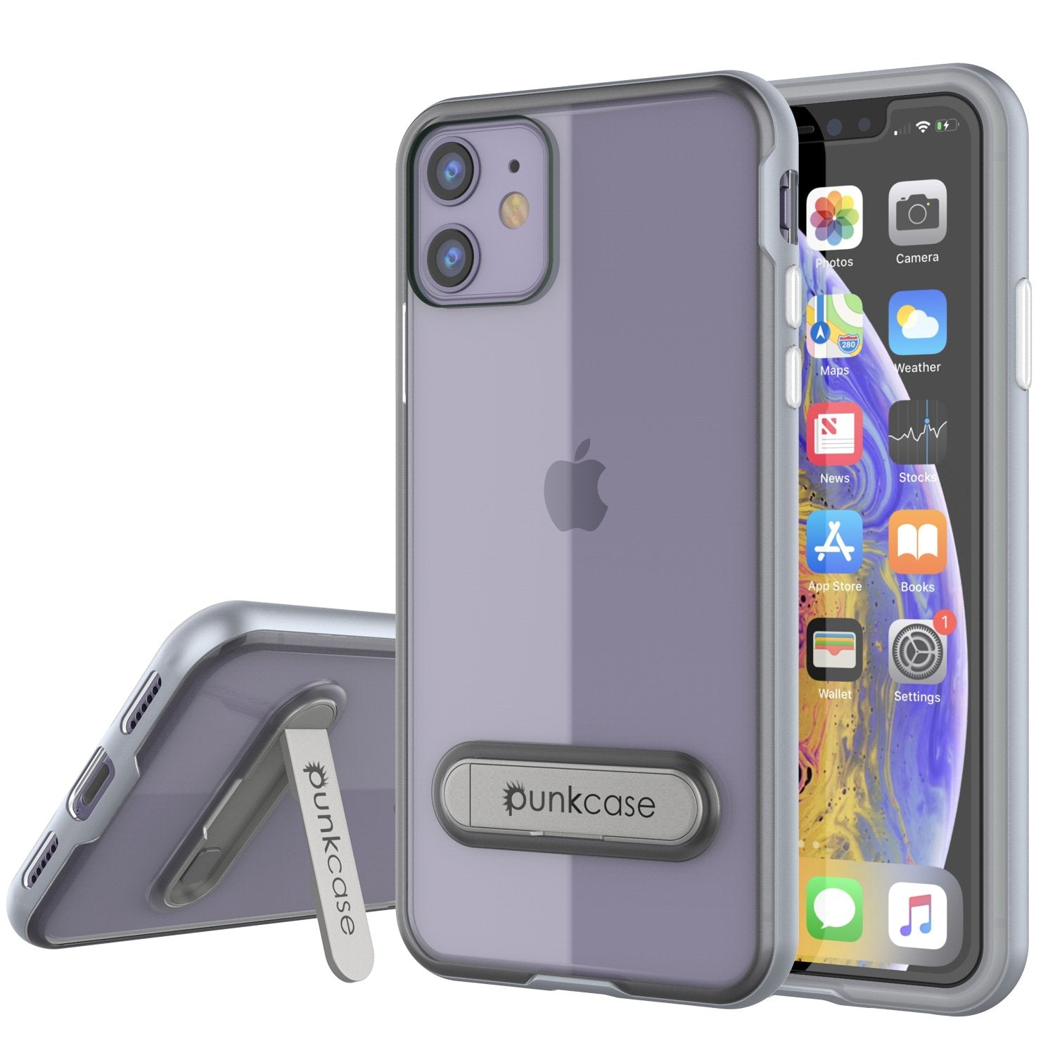 iPhone 12 Case, PUNKcase [LUCID 3.0 Series] [Slim Fit] Protective Cover w/ Integrated Screen Protector [Silver]