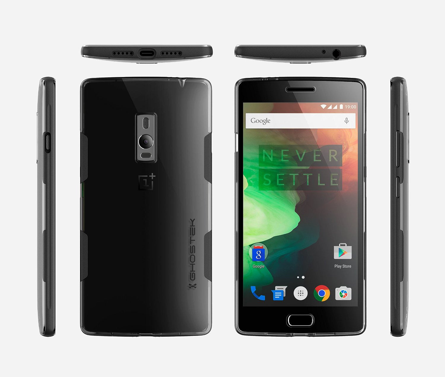 OnePlus 2 Case, Ghostek® Cloak Black Series for OnePlus 2 Slim Hybrid | Lifetime Warranty Exchange