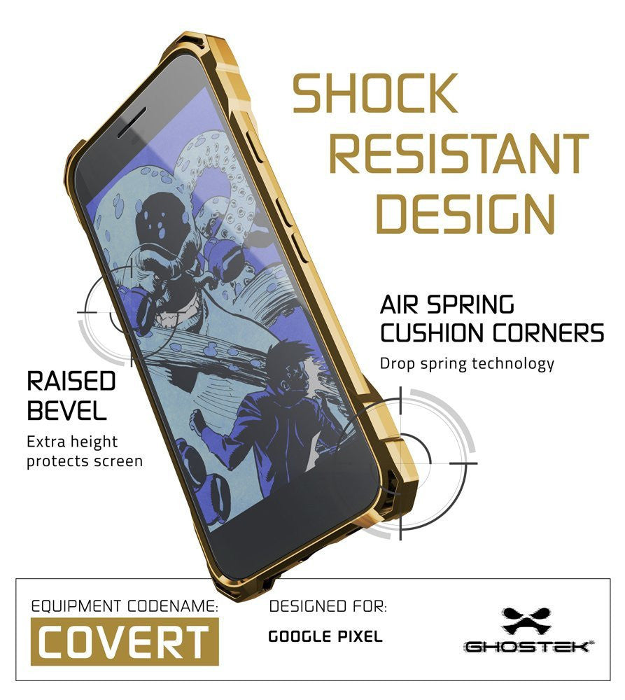 Google Pixel XL Case, Ghostek® Covert Gold, Premium Impact Protective Armor | Lifetime Warranty Exchange