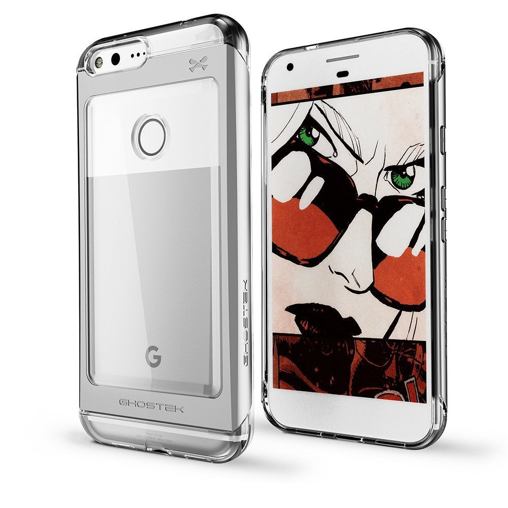 Google Pixel XL Case, Ghostek® Cloak 2.0  Silver Series w/ Explosion-Proof Screen Protector | Aluminum Frame