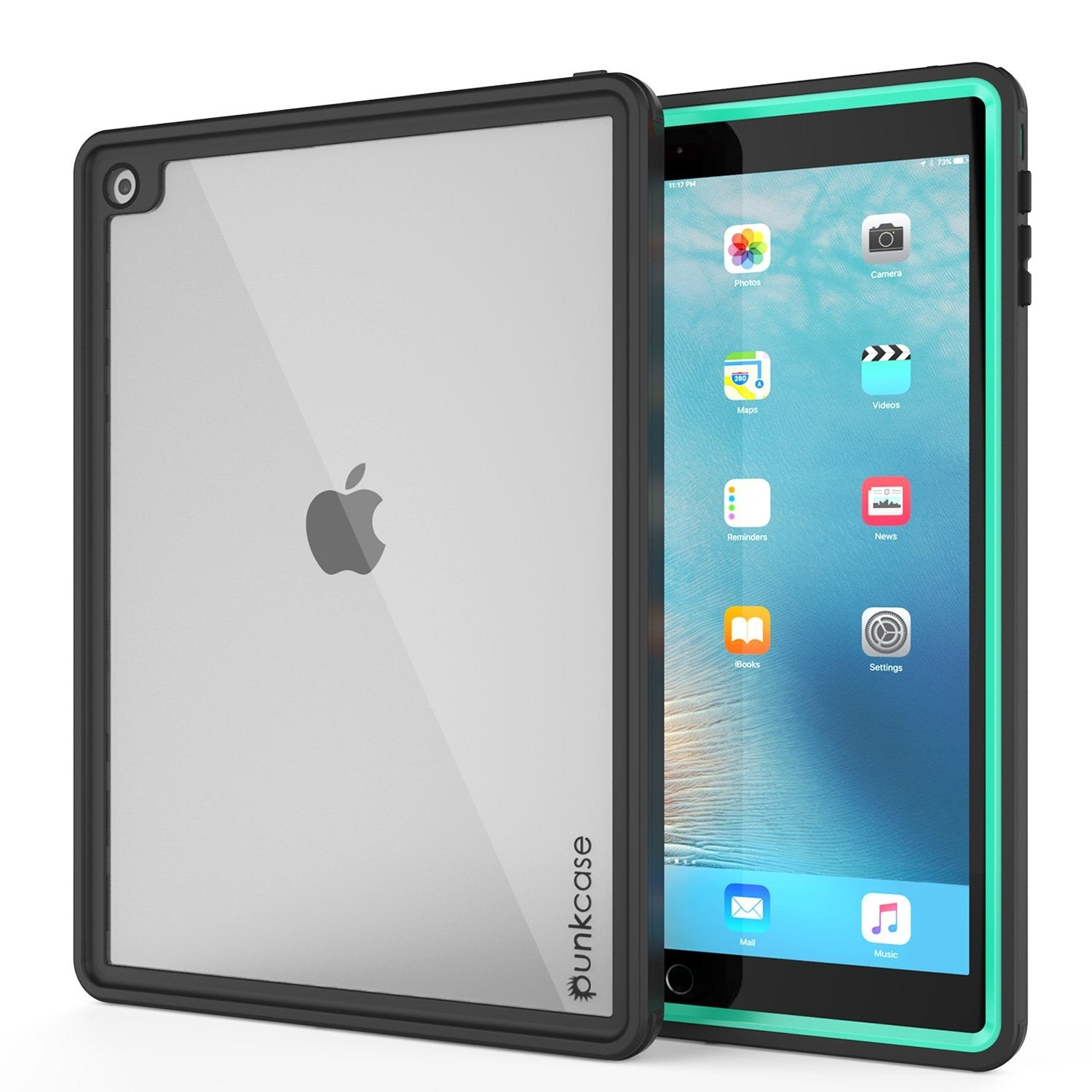 Punkcase iPad Pro 9.7 Case [CRYSTAL Series], Waterproof, Ultra-Thin Cover [Shockproof] [Dustproof] with Built-in Screen Protector [Teal]