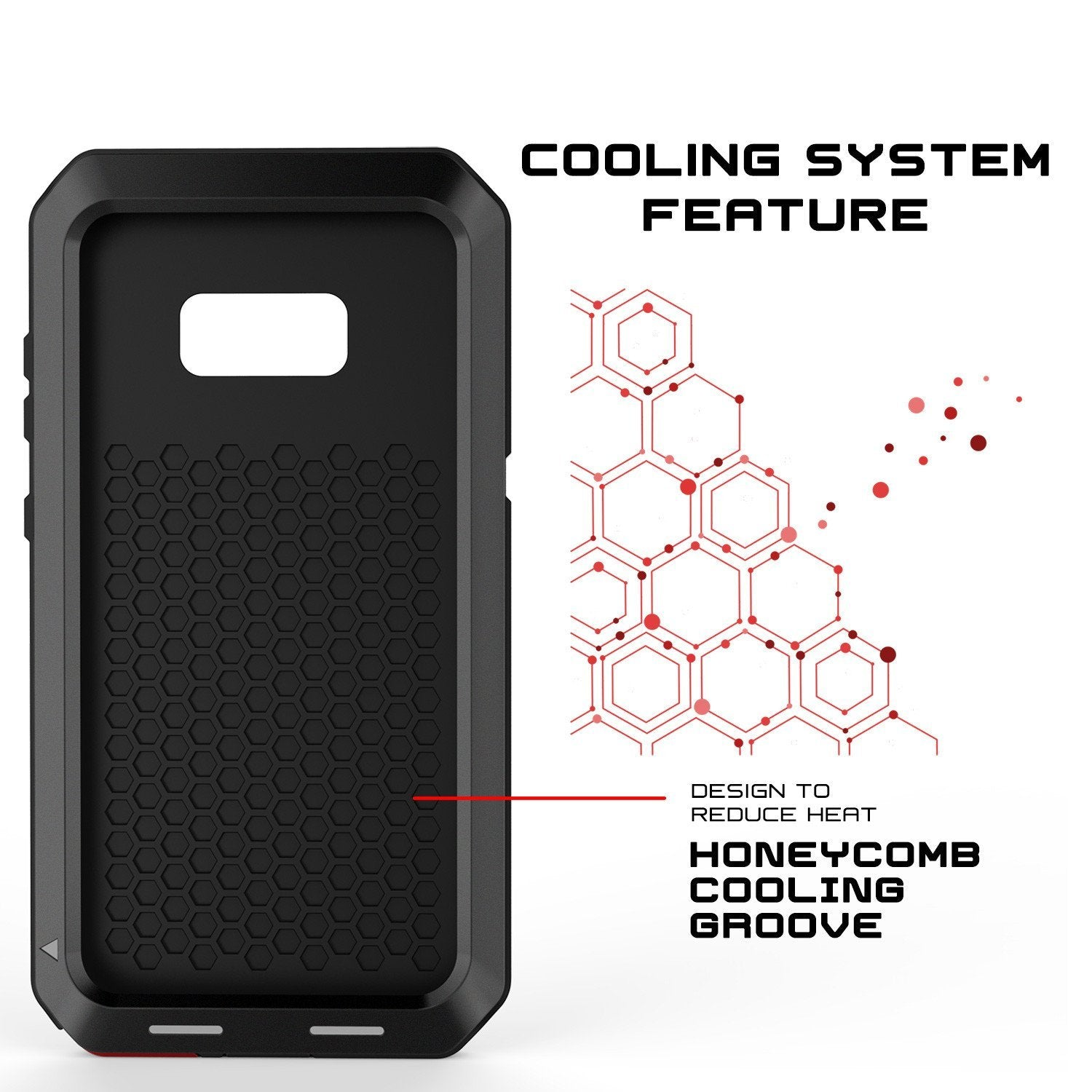 Galaxy Note 8 Case, PUNKcase Metallic Black Shockproof  Slim Metal Armor Case
