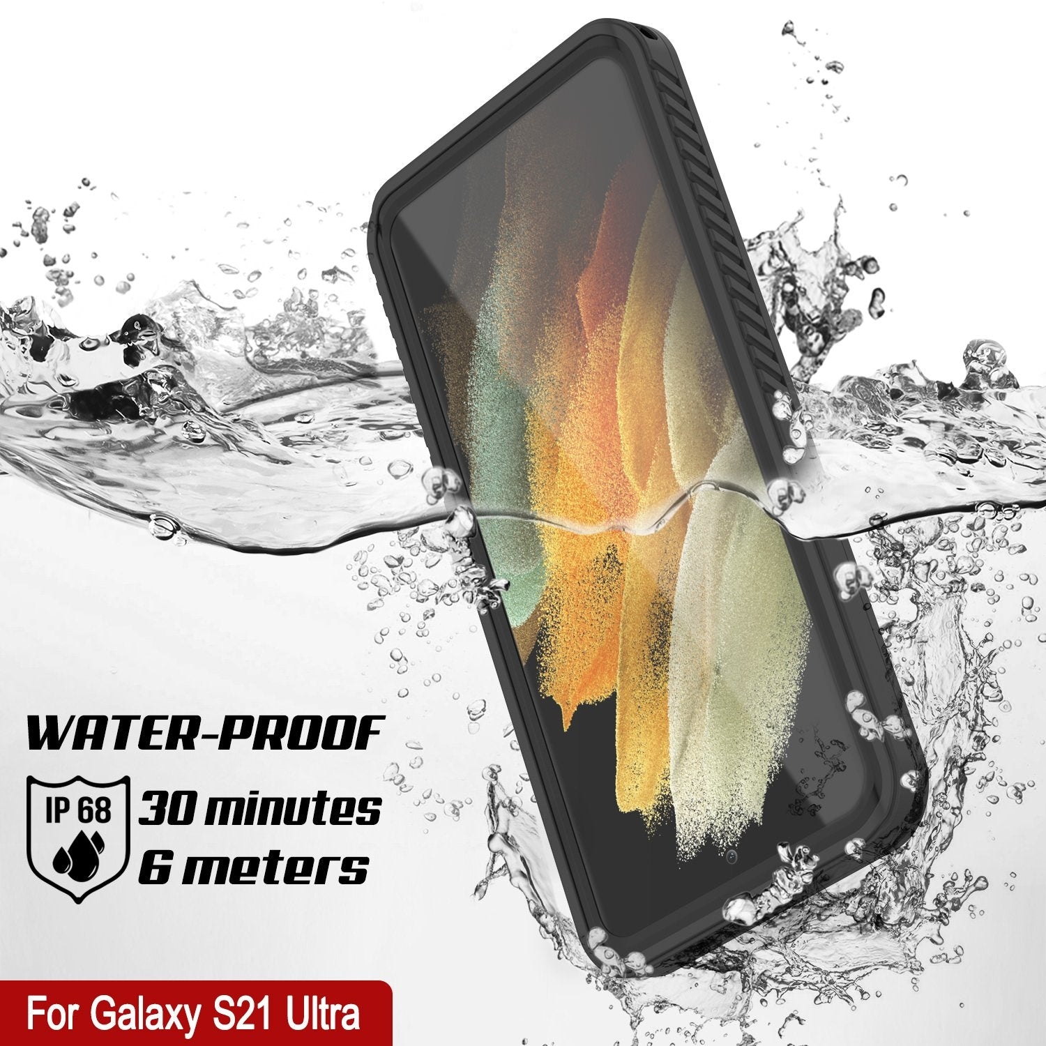 Galaxy S21 Ultra Water/Shockproof [Extreme Series] With Screen Protector Case [Black]