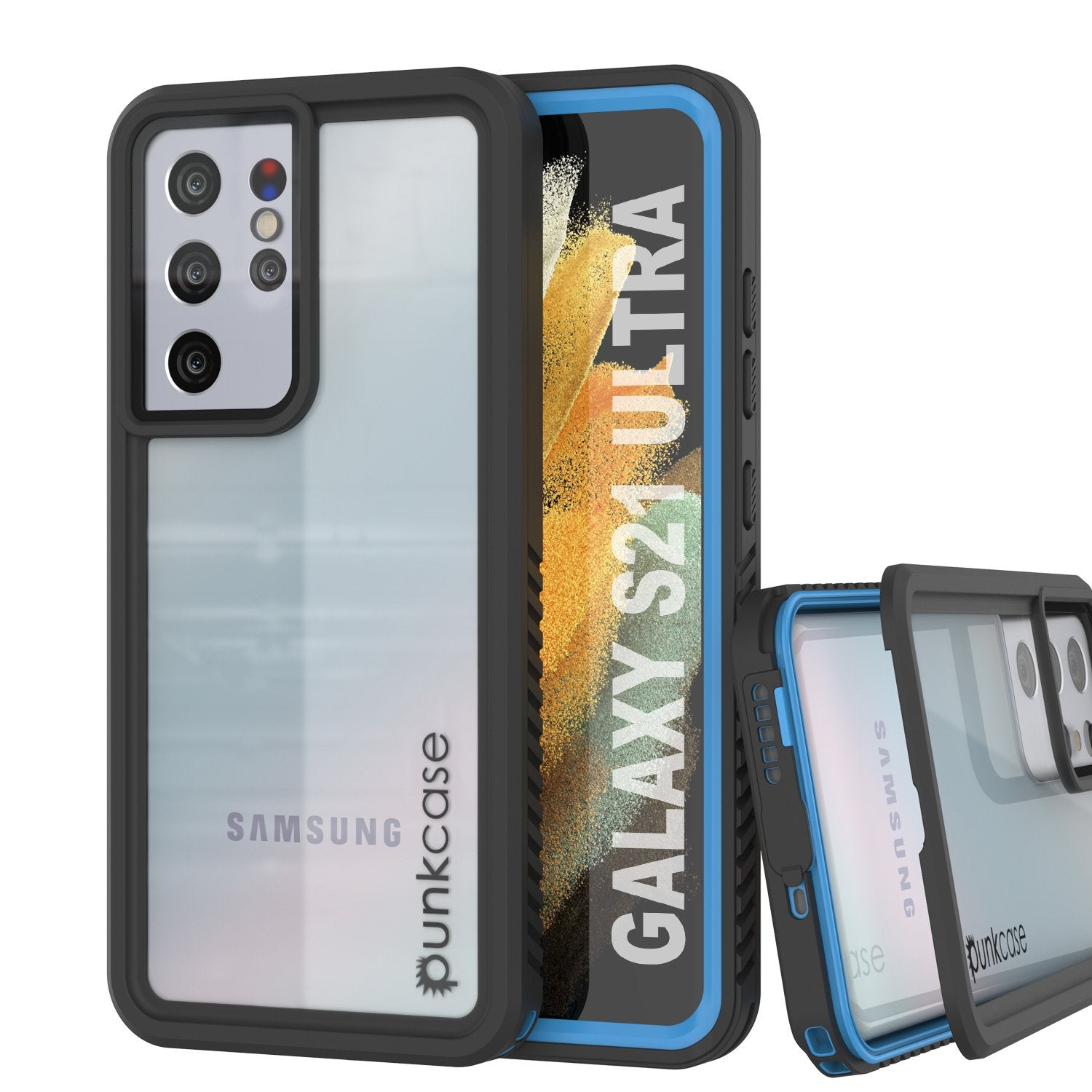Galaxy S21 Ultra Water/Shock/Snow/dirt proof [Extreme Series] Slim Case [Light Blue]