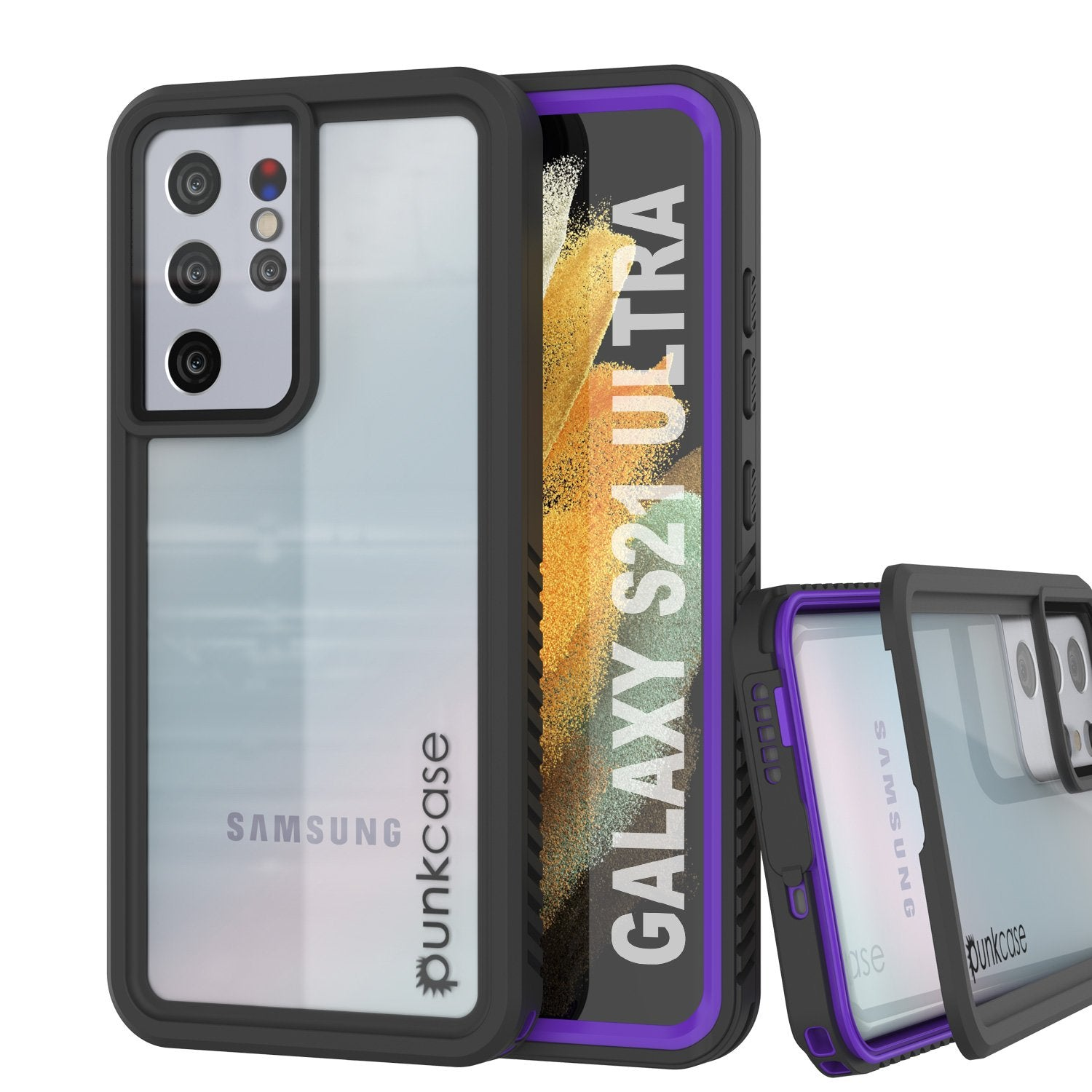Galaxy S21 Ultra Water/Shockproof [Extreme Series] Slim Screen Protector Case [Purple]