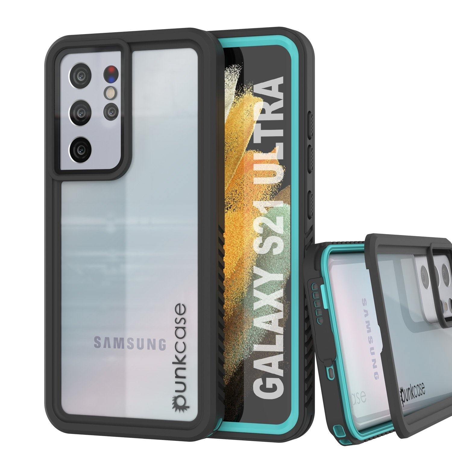 Galaxy S21 Ultra Water/Shock/Snowproof [Extreme Series]  Screen Protector Case [Teal]