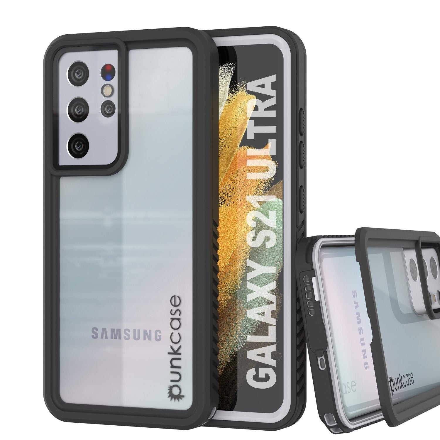 Galaxy S21 Ultra Water/Shock/Snow/dirt proof [Extreme Series] Punkcase Slim Case [White]