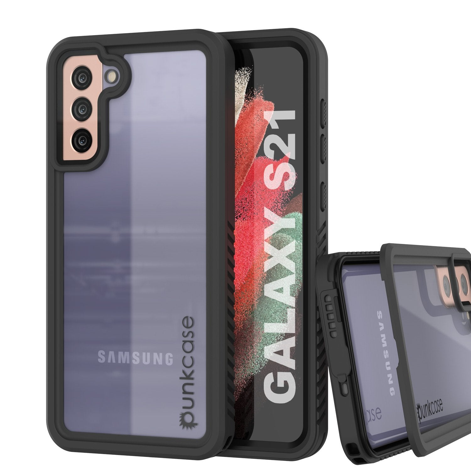 Galaxy S21 Water/Shockproof [Extreme Series] With Screen Protector Case [Black]