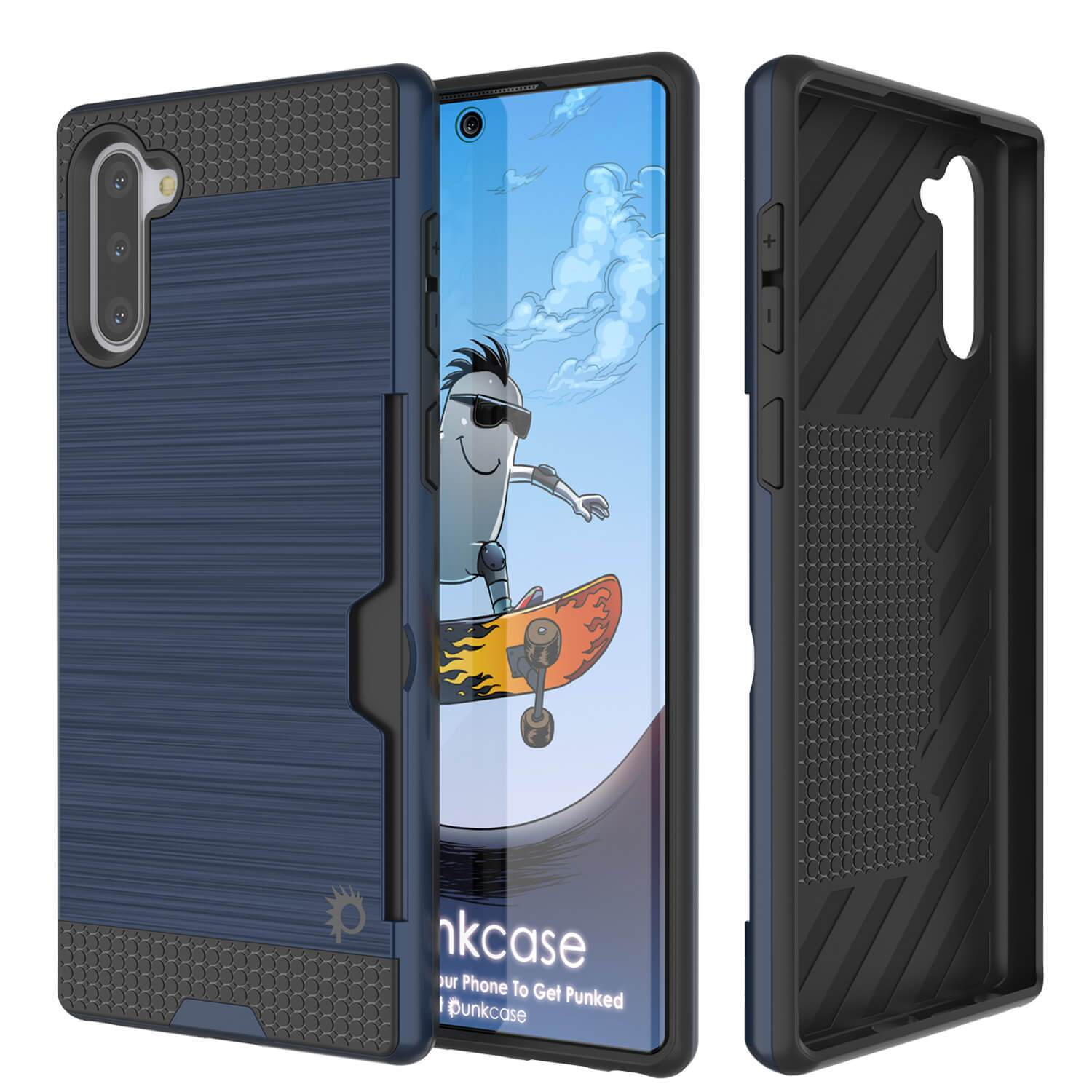 Galaxy Note 10 Case, PUNKcase [SLOT Series] Slim Fit  Samsung Note 10 [Navy]