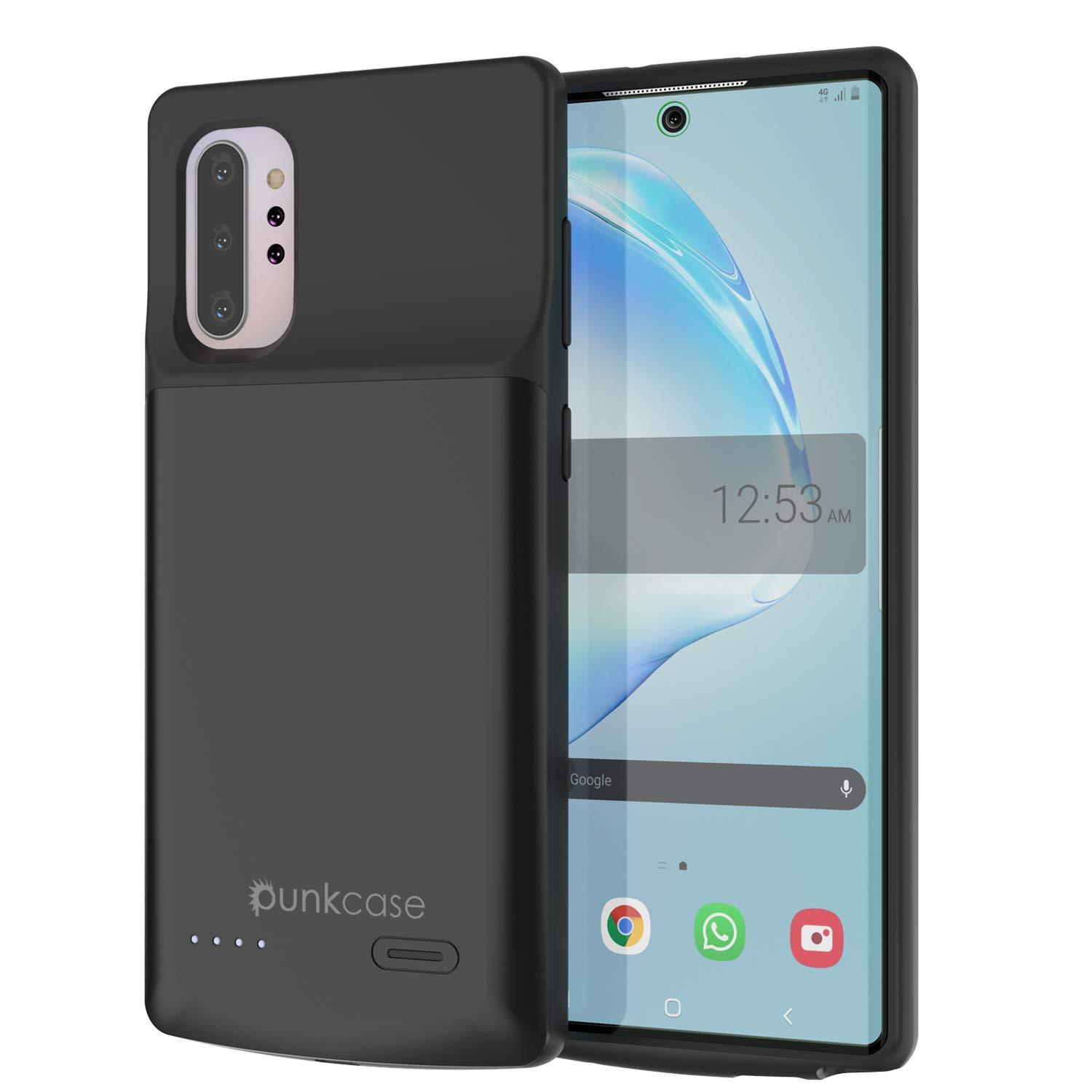 Galaxy Note 10+ Plus 6000mAH Battery Charger W/ USB Port Slim Case [Black]