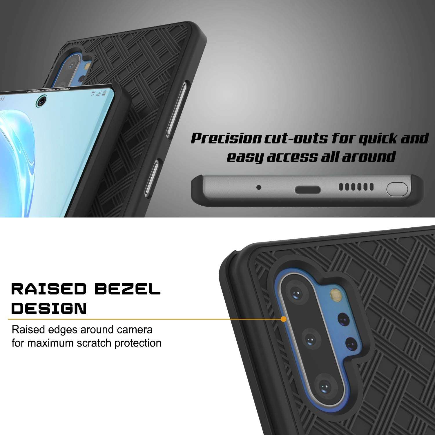 PunkCase Galaxy Note 8 Case Holster Belt Clip Cover for Samsung Galaxy Note 8 Black