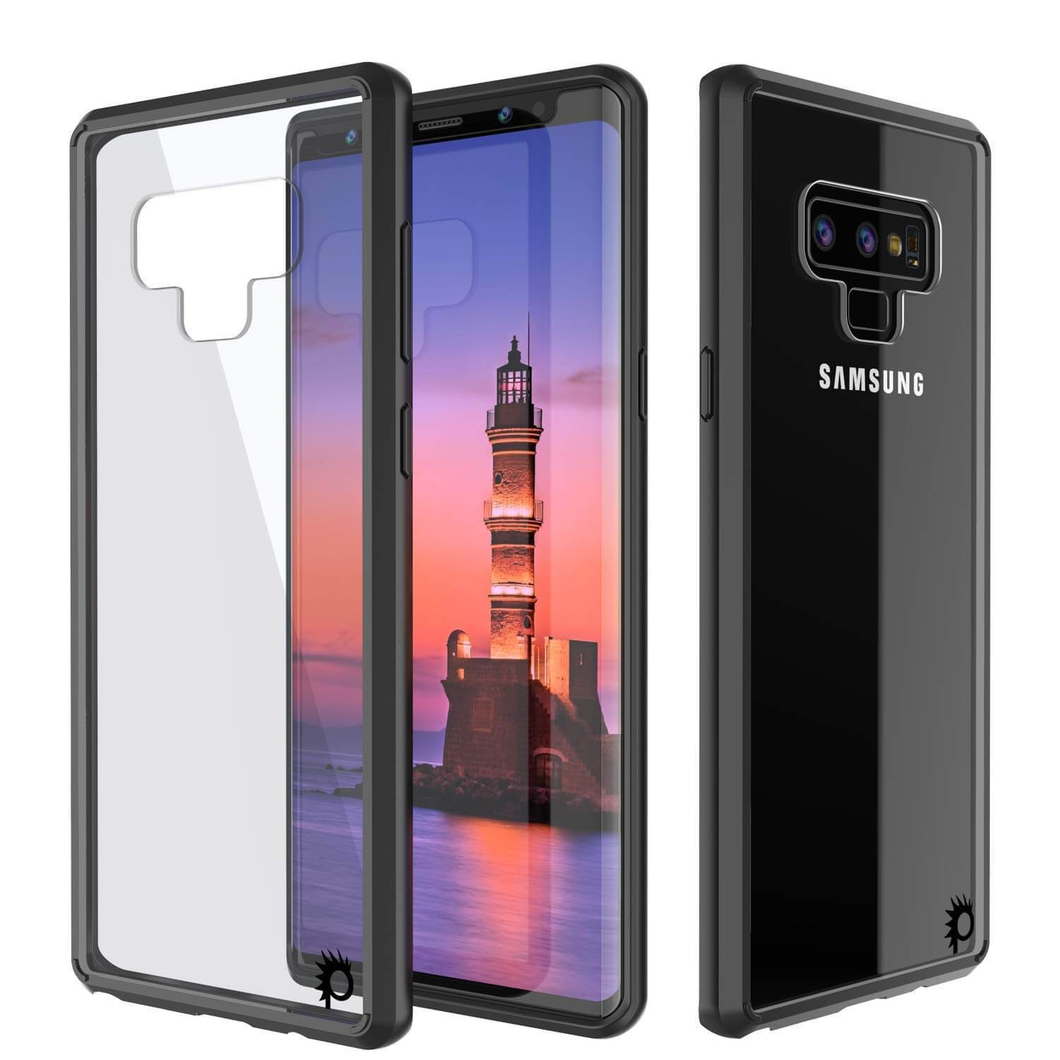 Galaxy Note 9 Case, PUNKcase [LUCID 2.0 Series] [Slim Fit] Armor Cover W/Integrated Anti-Shock System [Black]