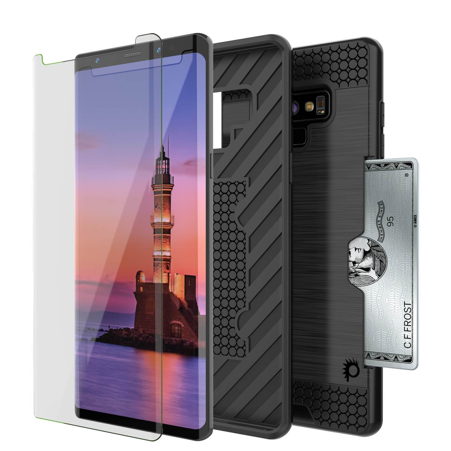 Galaxy Note 9 Case, PUNKcase [SLOT Series] Slim Fit  Samsung Note 9 [Black]