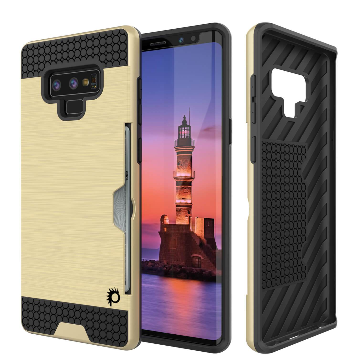 Galaxy Note 9 Case, PUNKcase [SLOT Series] Slim Fit  Samsung Note 9 [Gold]