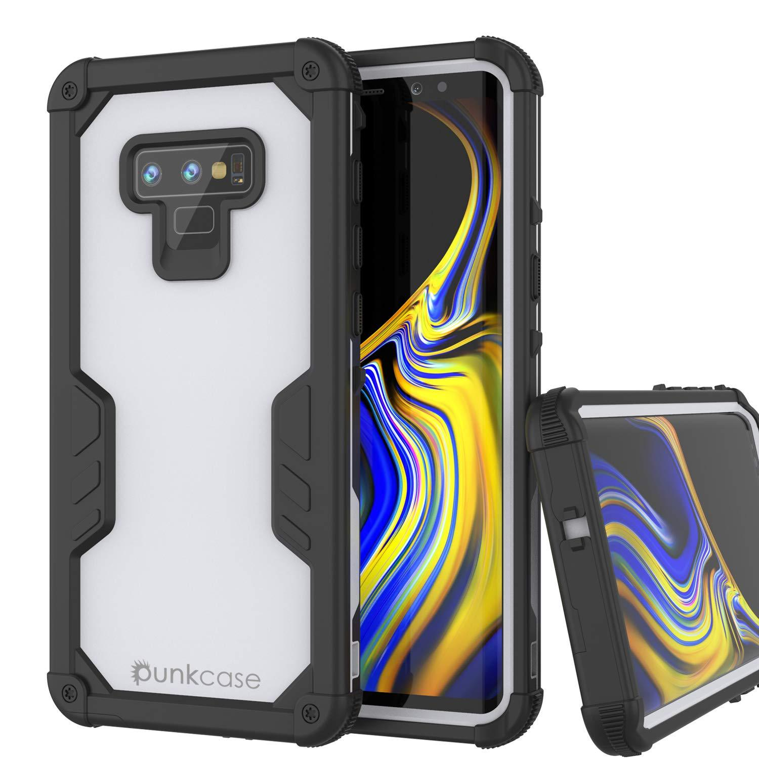 Punkcase Galaxy Note 9 Waterproof Case [Navy Seal Extreme Series] Armor Cover W/ Built In Screen Protector [White]