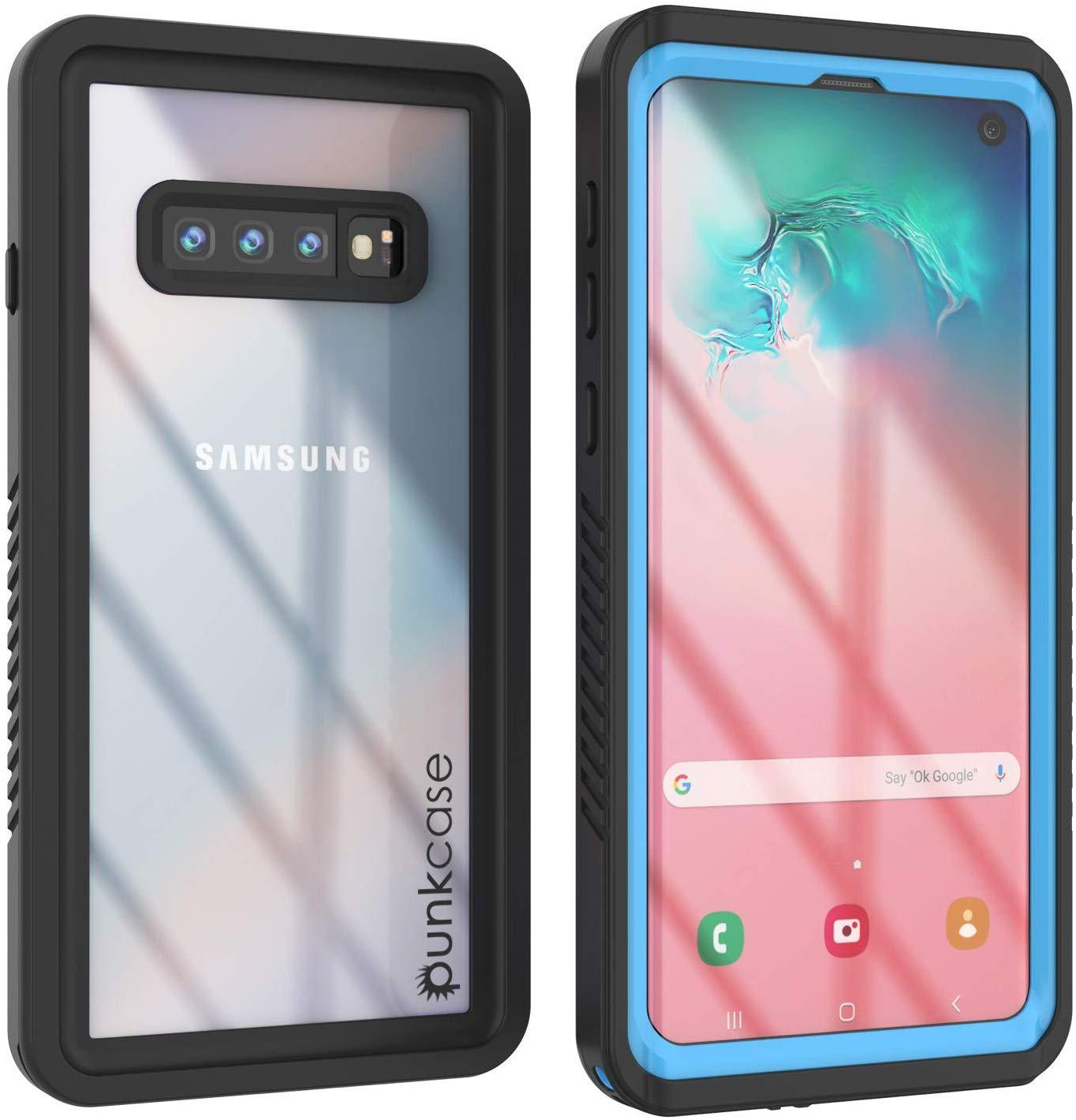 Galaxy S10+ Plus Water/Shock/Snow/dirt proof Slim Case [Light Blue]