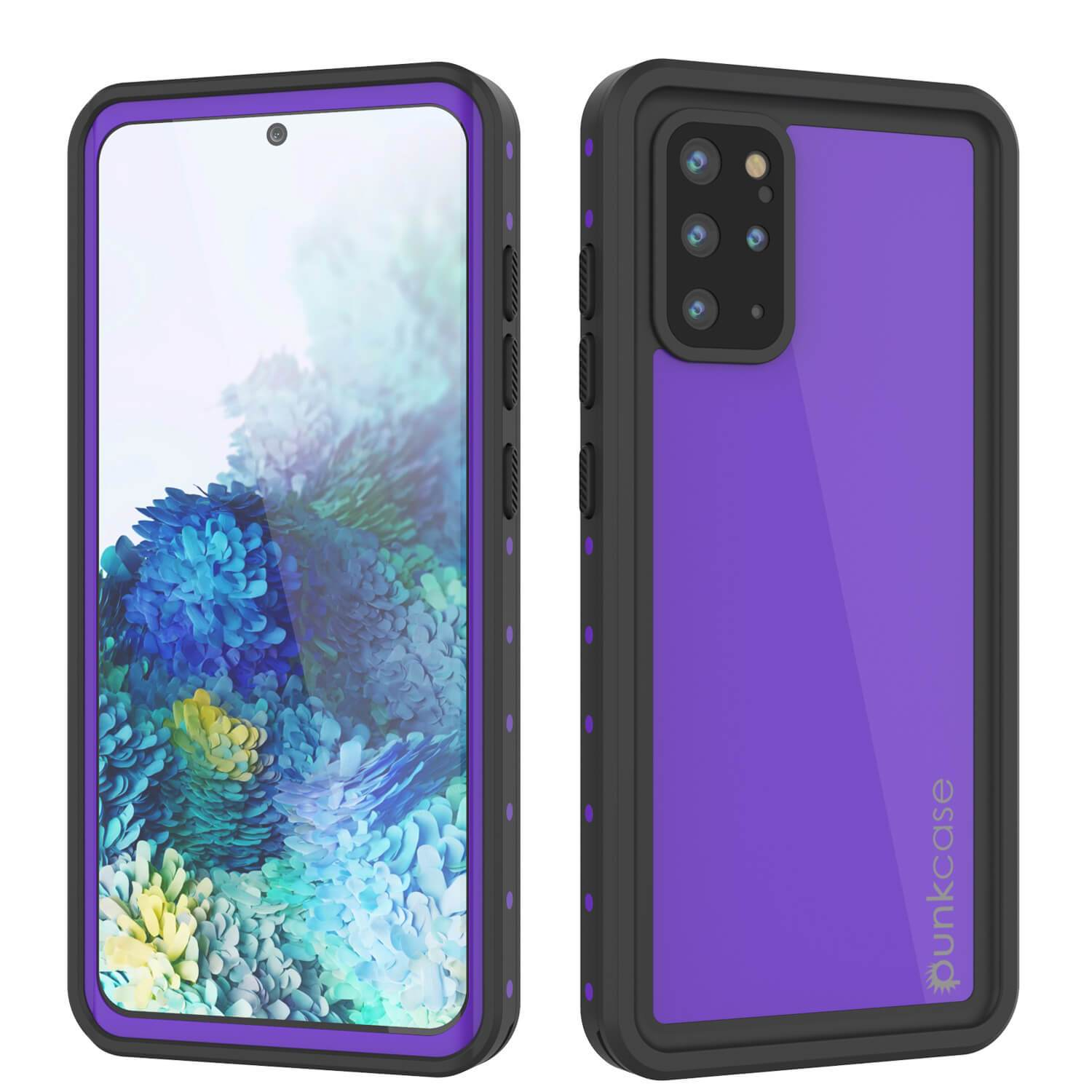 Galaxy S20+ Plus Waterproof Case PunkCase StudStar Purple Thin 6.6ft Underwater IP68 Shock/Snow Proof