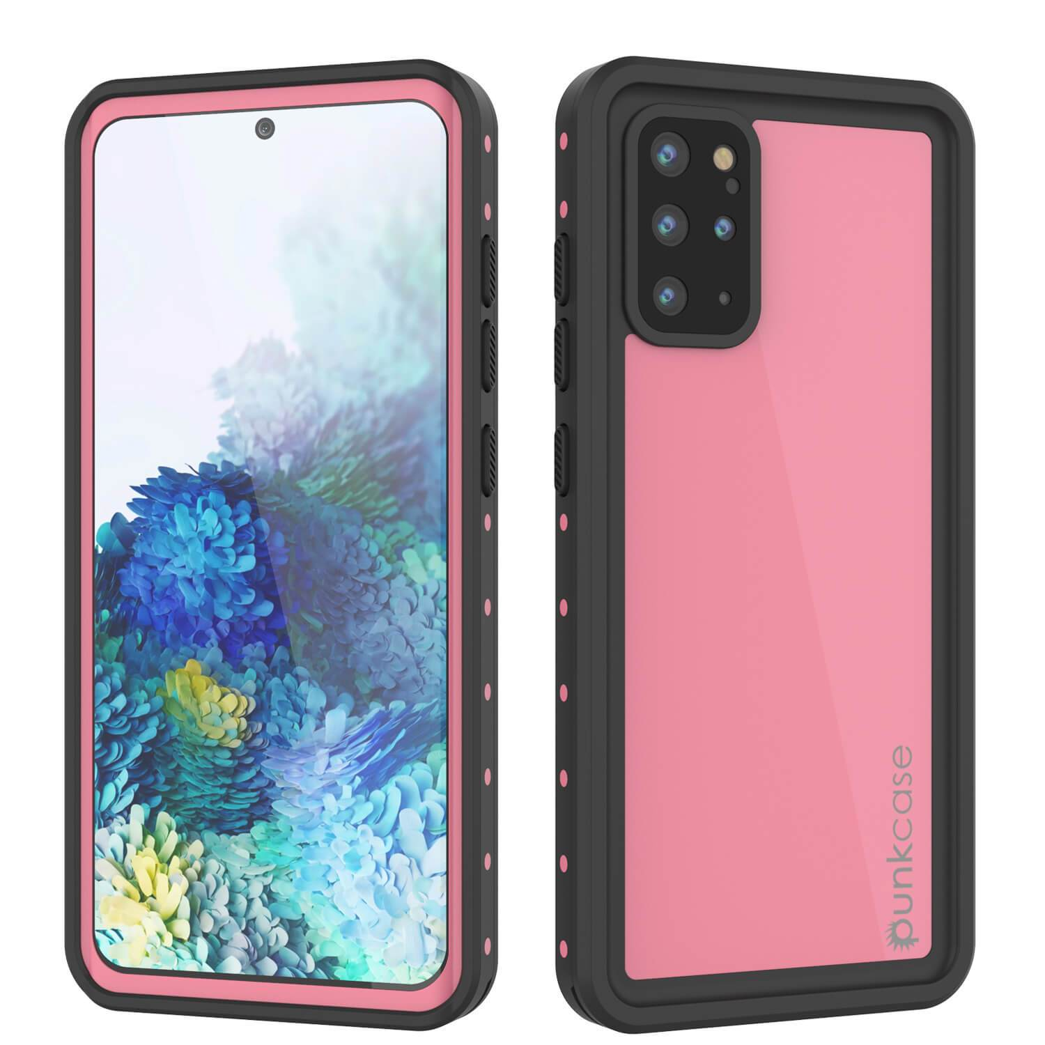 Galaxy S20+ Plus Waterproof Case PunkCase StudStar Pink Thin 6.6ft Underwater IP68 Shock/Snow Proof
