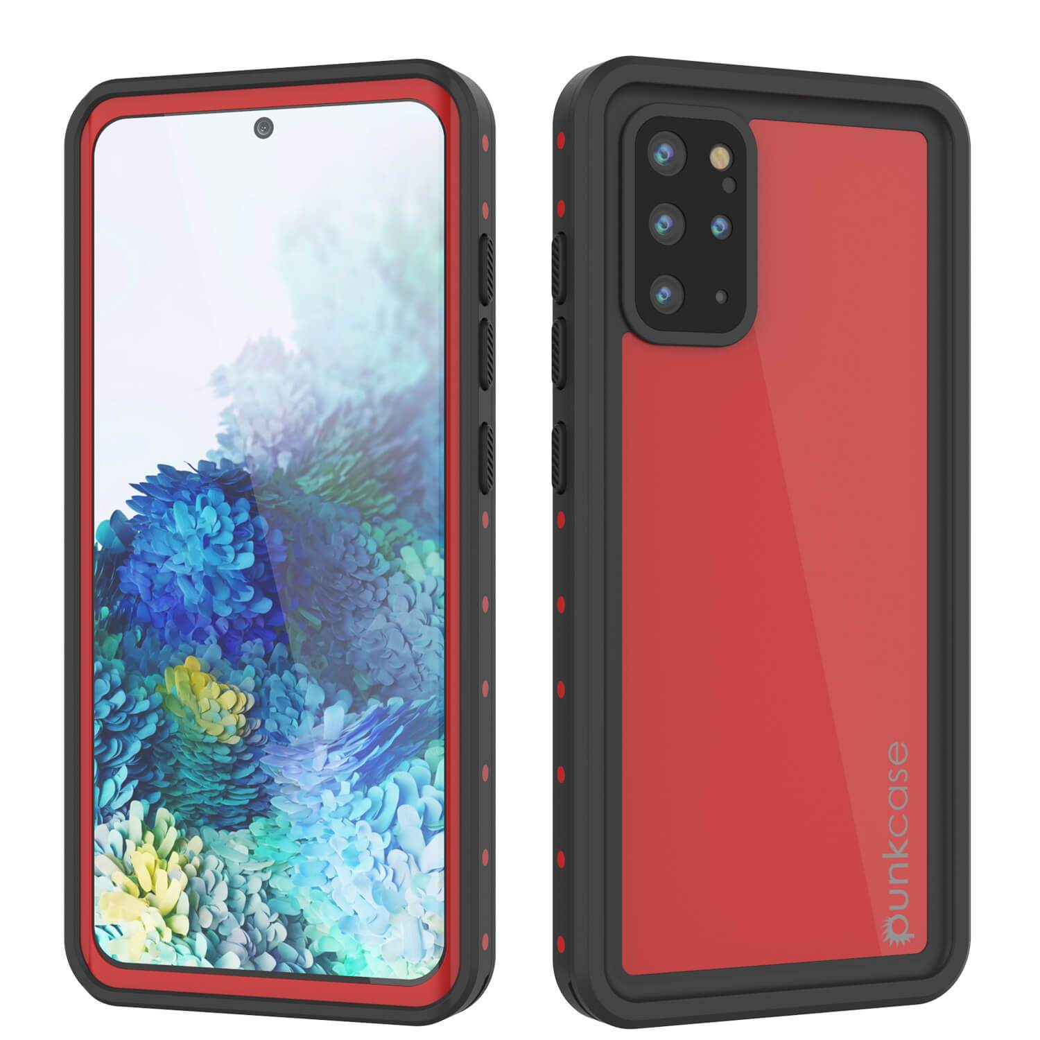Galaxy S20+ Plus Waterproof Case PunkCase StudStar Red Thin 6.6ft Underwater IP68 Shock/Snow Proof
