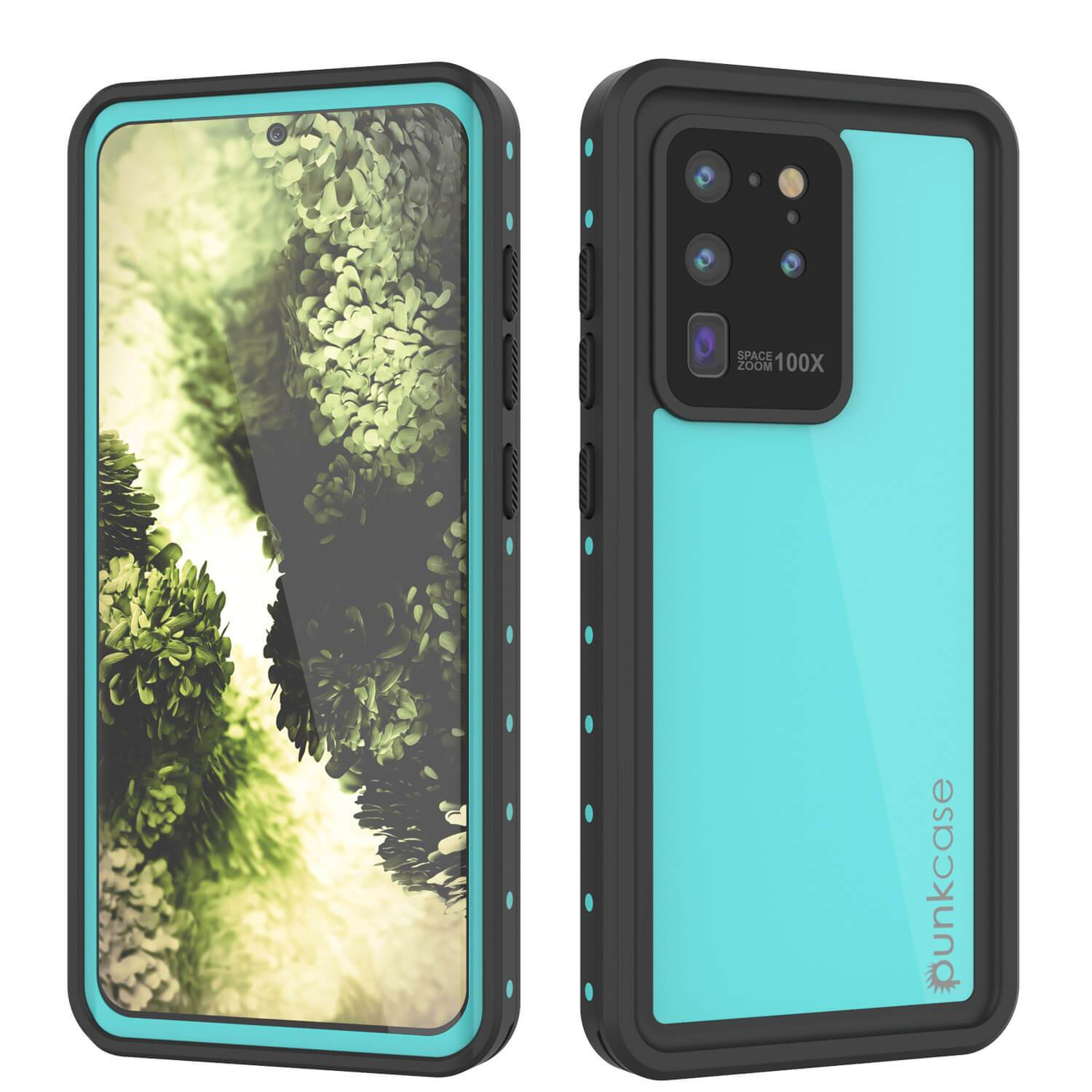 Galaxy S20 Ultra Waterproof Case PunkCase StudStar Teal Thin 6.6ft Underwater IP68 Shock/Snow Proof