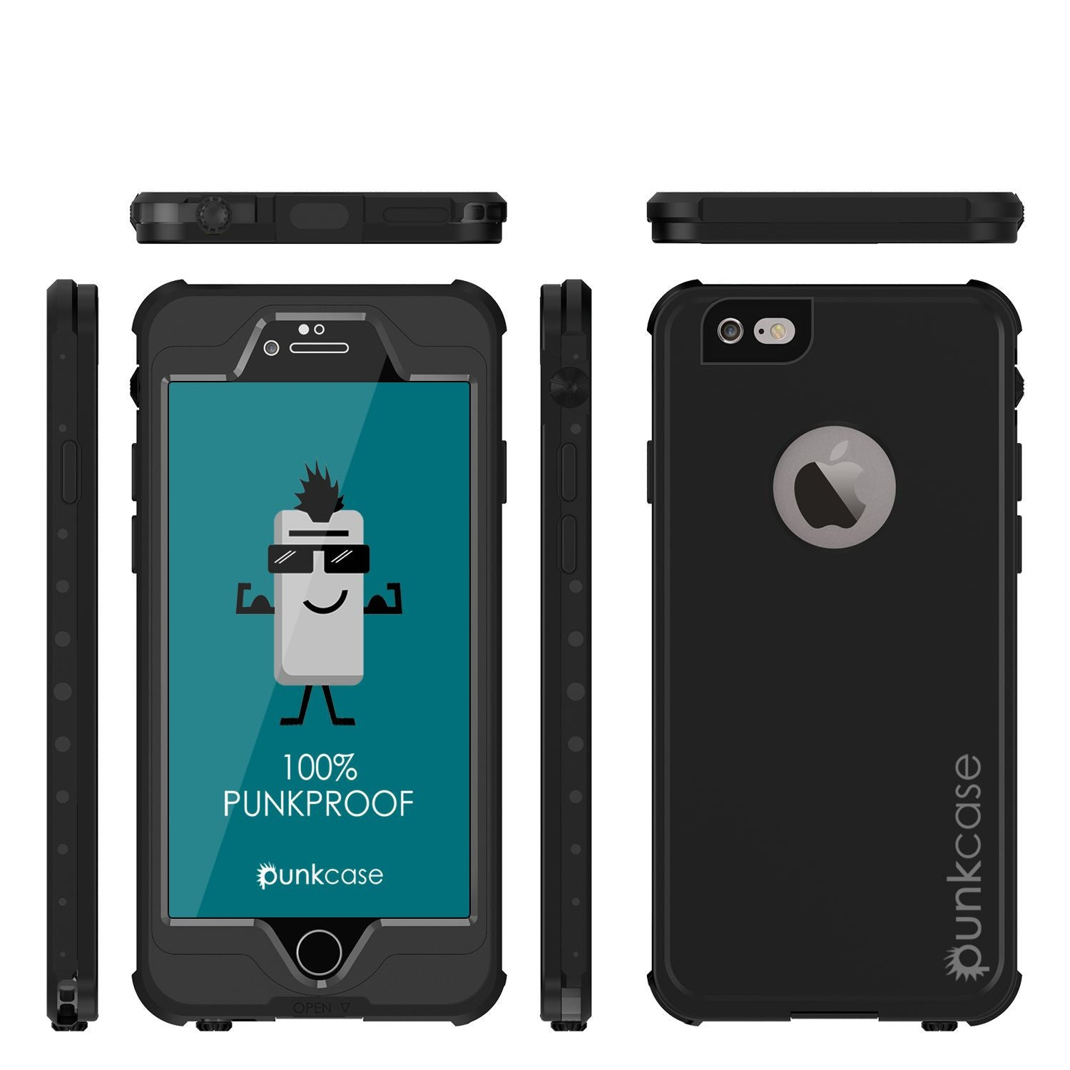 iPhone 6s/6 Waterproof Case, PunkCase StudStar Black w/ Attached Screen Protector | Lifetime Warranty