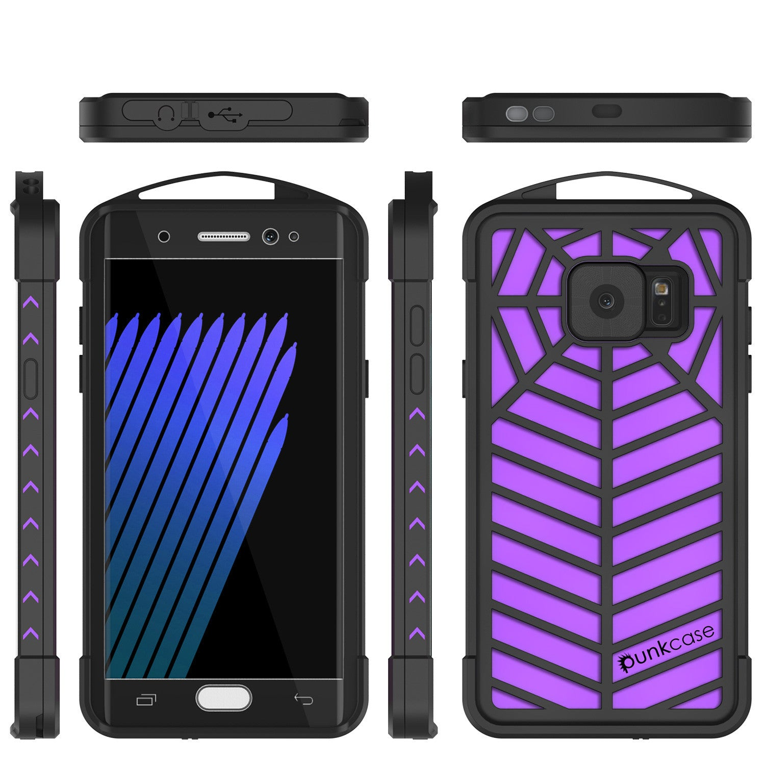 Galaxy Note 7 Waterproof Case, Punkcase WEBSTER Series, Putple | Heavy Duty Armor Cover