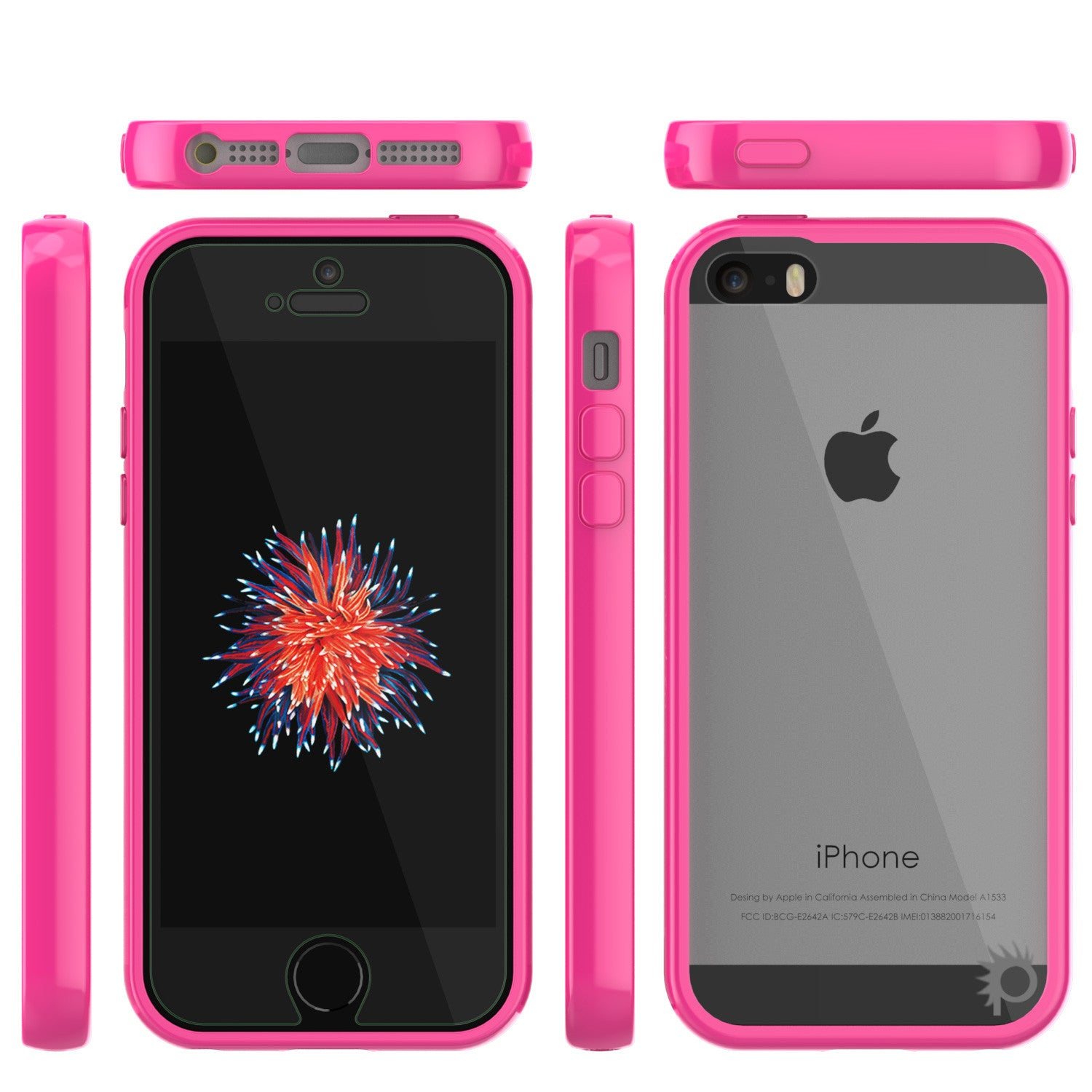 iPhone SE/5S/5 Case Punkcase® LUCID 2.0 Pink Series w/ PUNK SHIELD Screen Protector | Ultra Fit