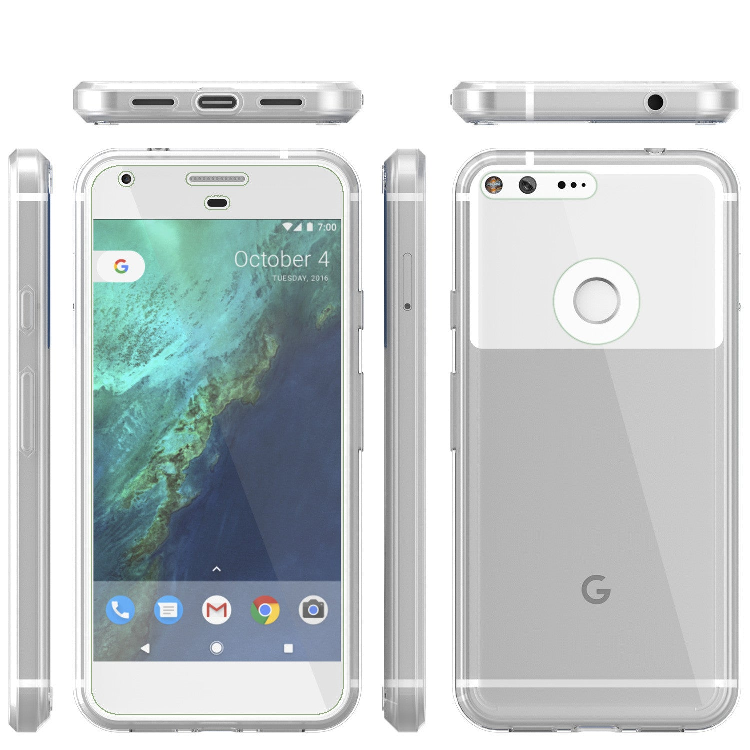Google Pixel Case Punkcase® LUCID 2.0 Clear Series w/ PUNK SHIELD Glass Screen Protector | Ultra Fit