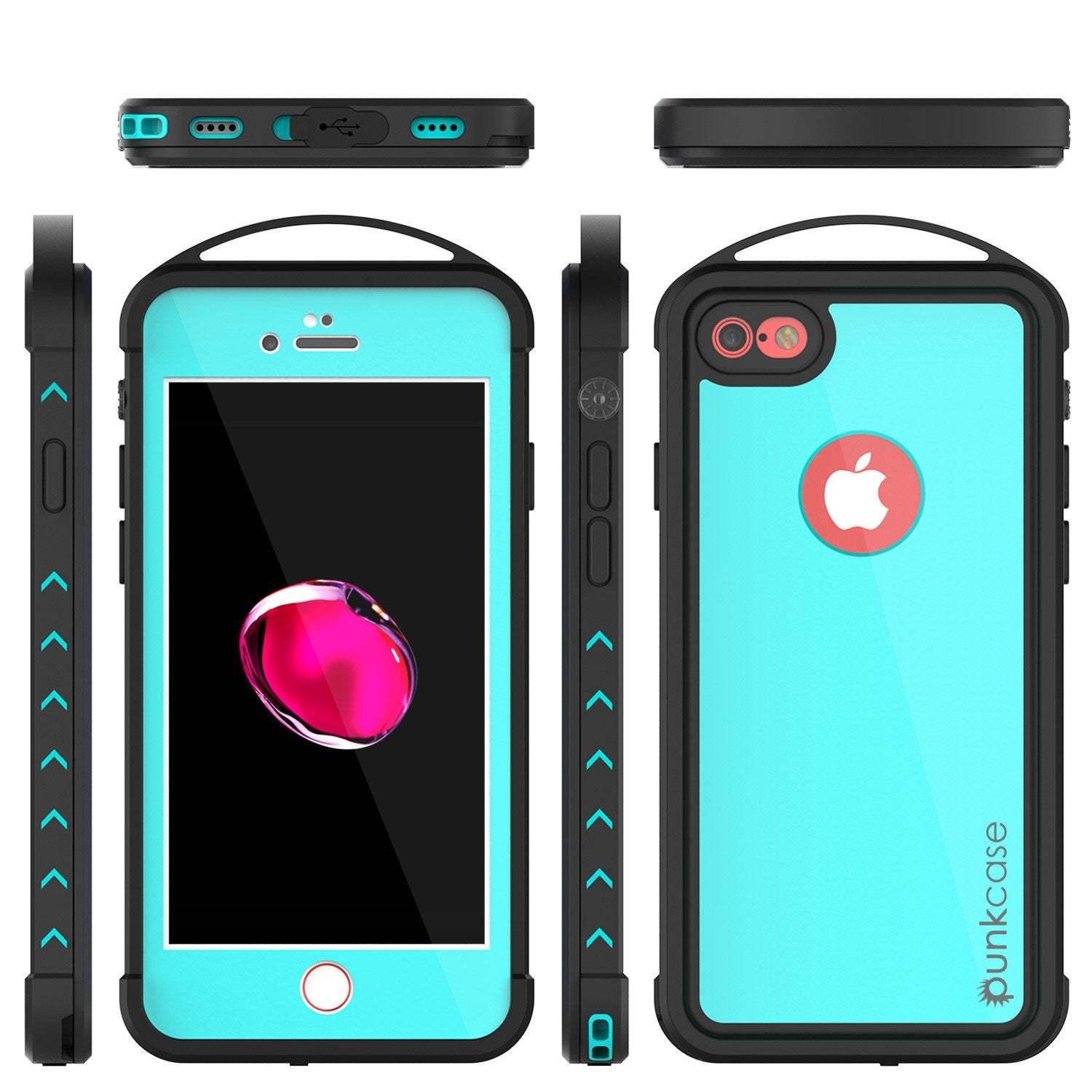 iPhone 7 Waterproof Case, Punkcase ALPINE Series, Teal | Heavy Duty Armor Cover