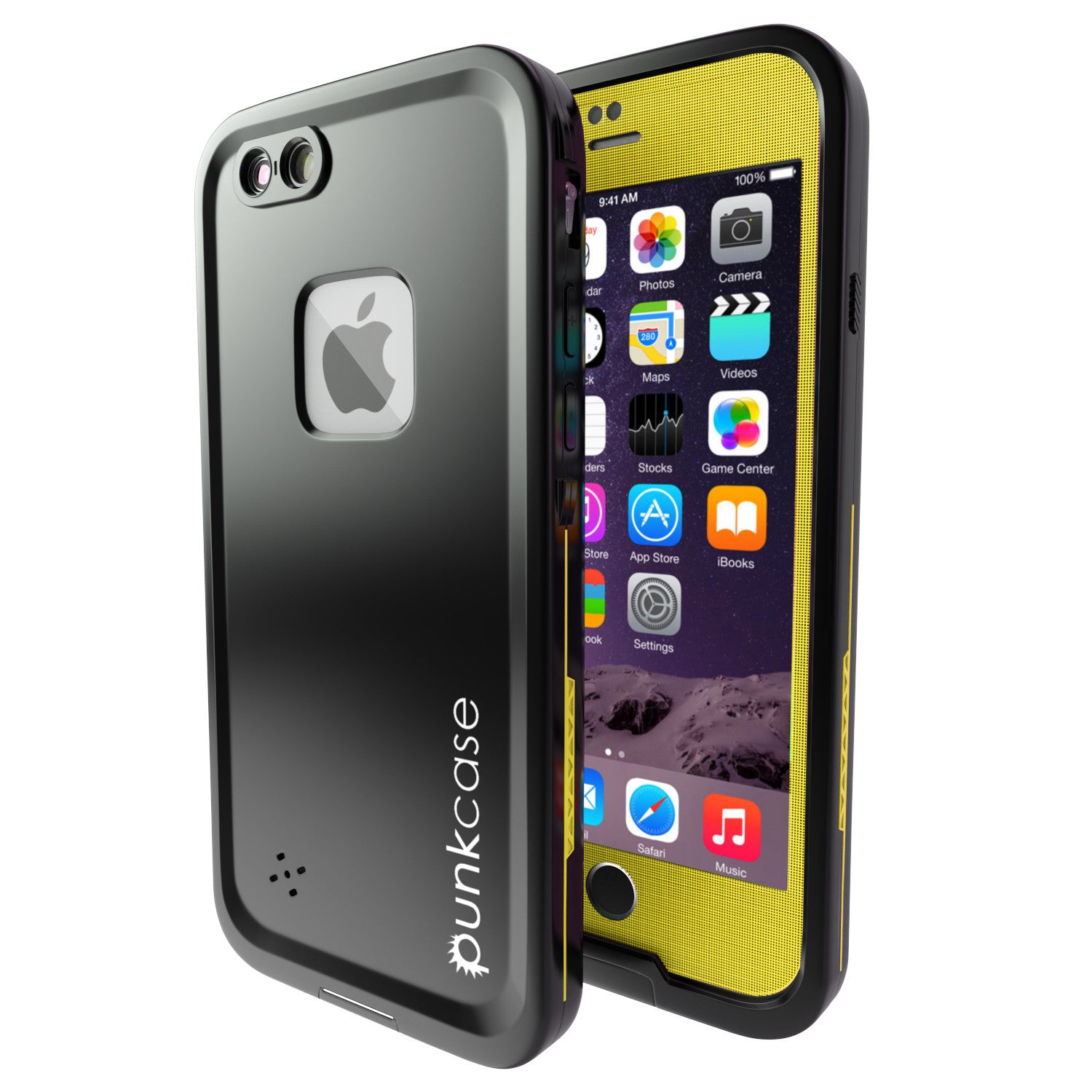 iPhone 6S+/6+ Plus Waterproof Case, Punkcase SpikeStar Yellow Series | Thin Fit 6.6ft Underwater IP68
