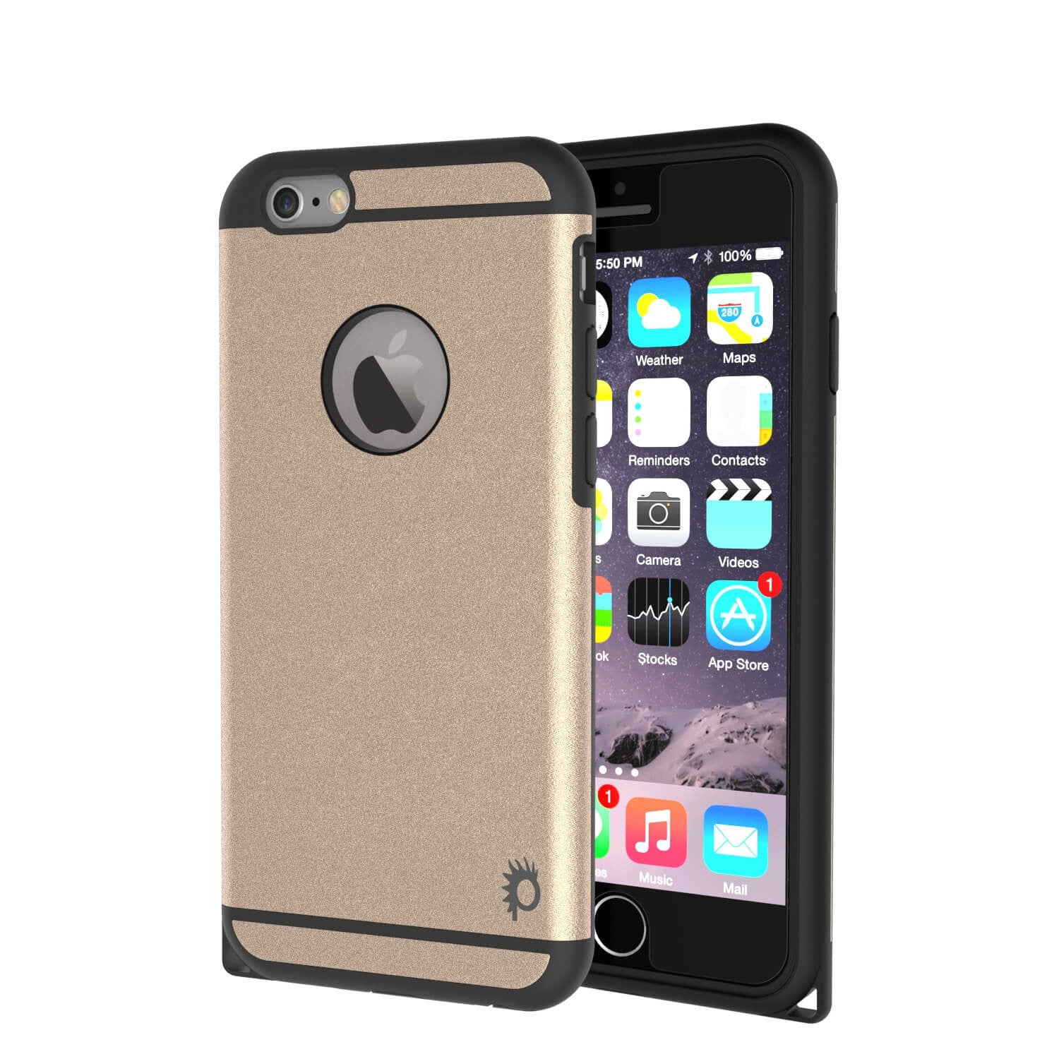 iPhone 6s Plus/6 Plus  Case PunkCase Galactic Gold Slim w/ Tempered Glass | Lifetime Warranty