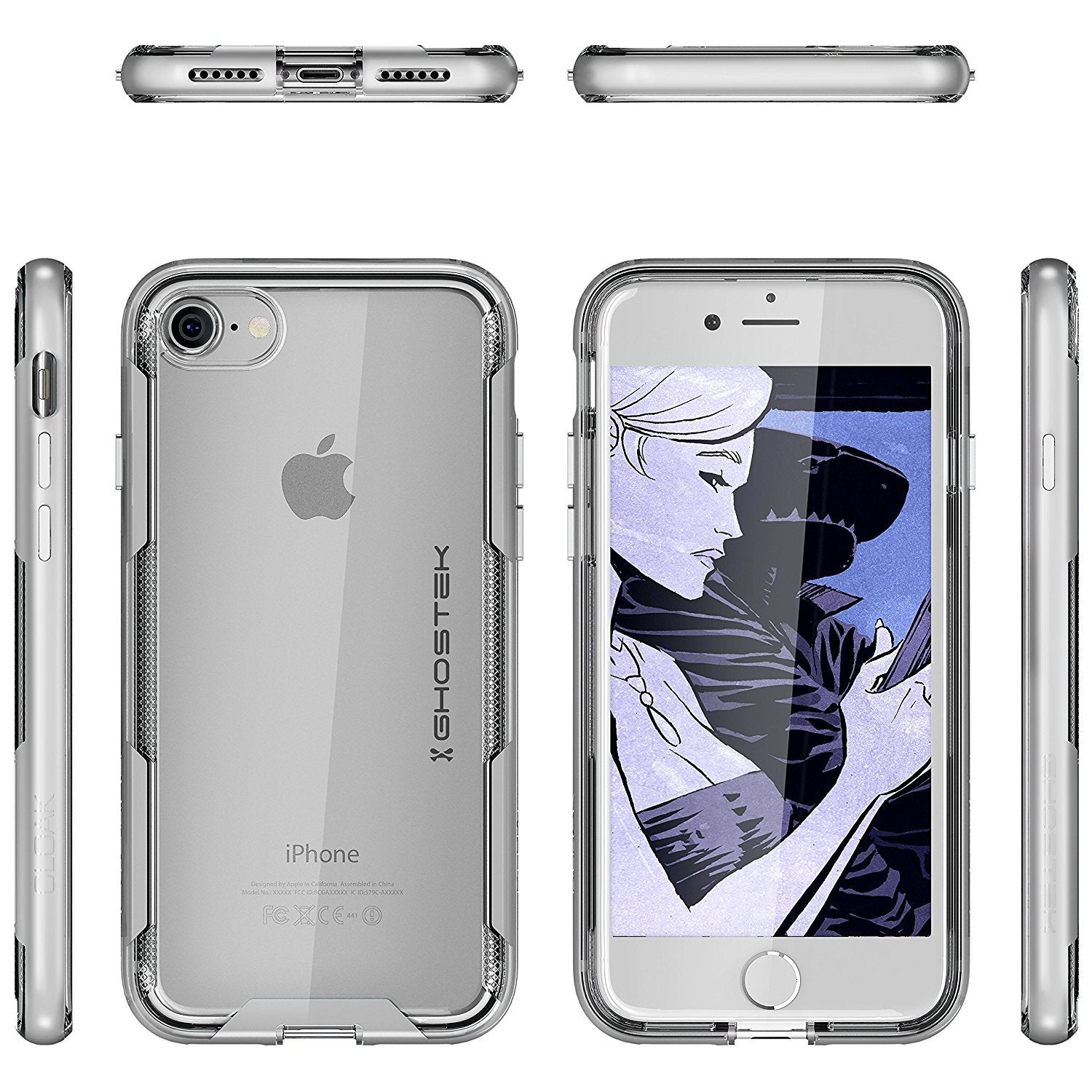 iPhone 7 Case, Ghostek Cloak 3 Series Case for iPhone 7 Case Clear Protective Case [SILVER]