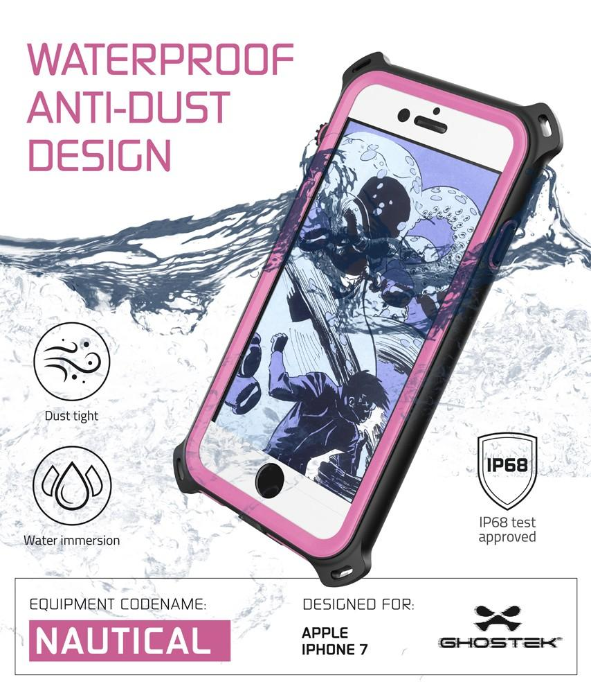 iPhone 7 Case, Ghostek Nautical Series  for iPhone 7 Case | PINK