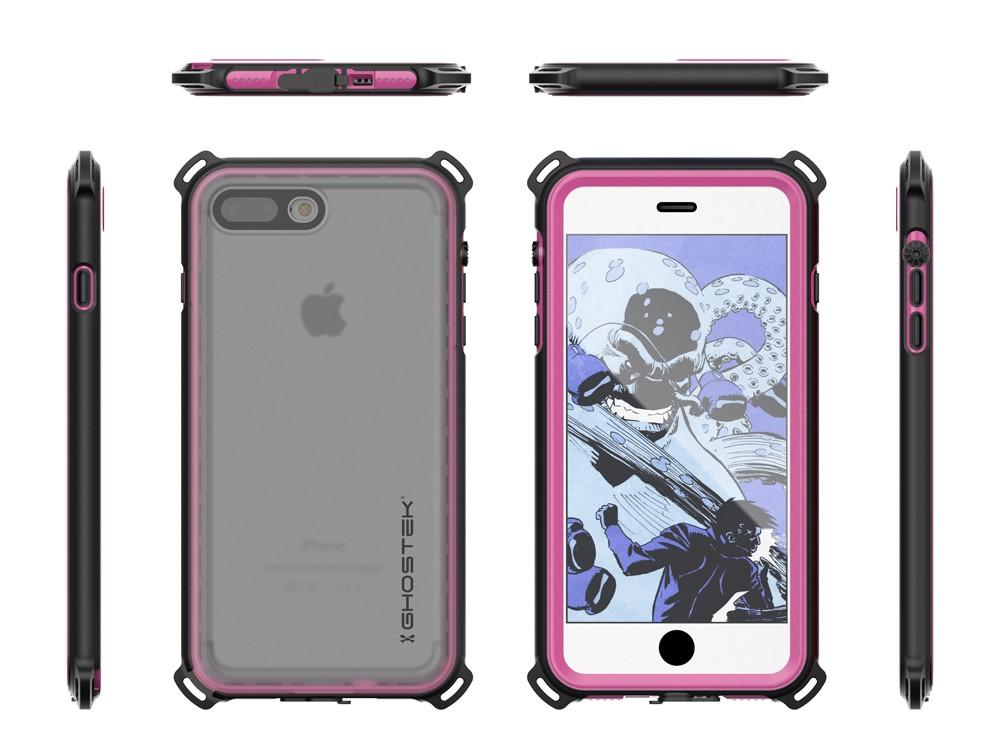 iPhone 7+ Plus case, Ghostek®  Nautical Series  for iPhone 7+ Plus Rugged Heavy Duty Case | Pink