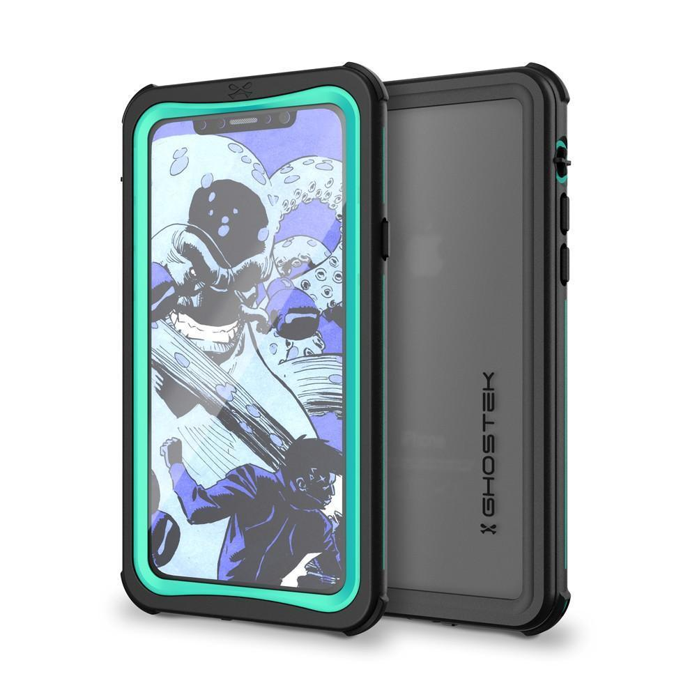 iPhone X Waterproof Case, Ghostek Nautical Series Extreme Durable Tough Cover | Hybrid Impact Rugged Outdoor Design | Teal