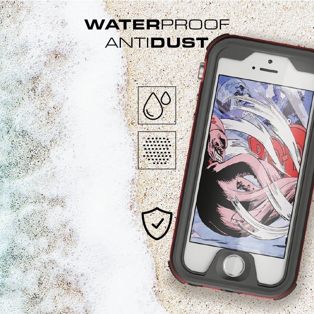 iPhone 8+ Plus Waterproof Case, Ghostek® Atomic 3.0 Red Series | Underwater | Touch-ID