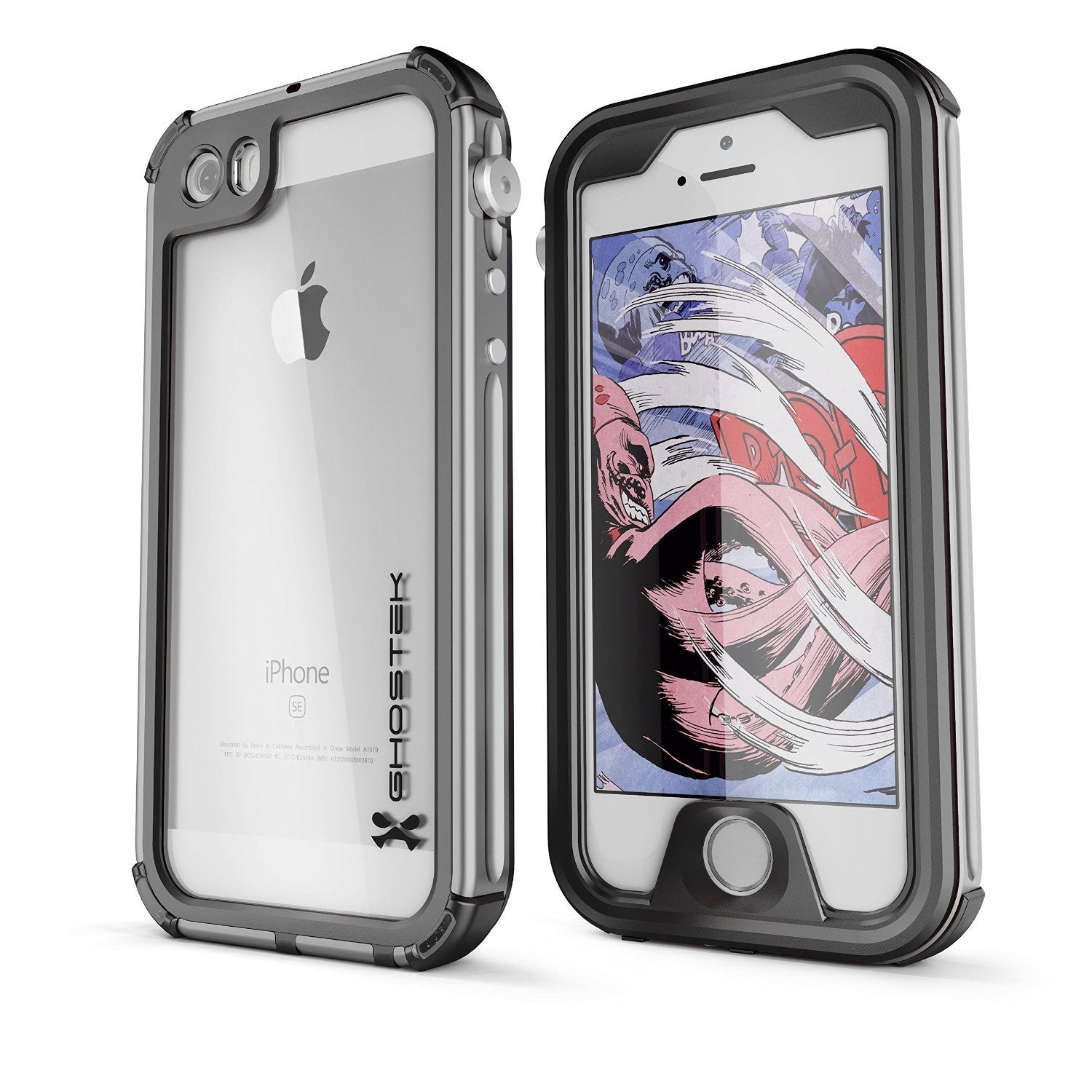 iPhone SE/5S/5 Waterproof Case, Ghostek® Atomic 3.0 Silver Series | Underwater | Touch-ID