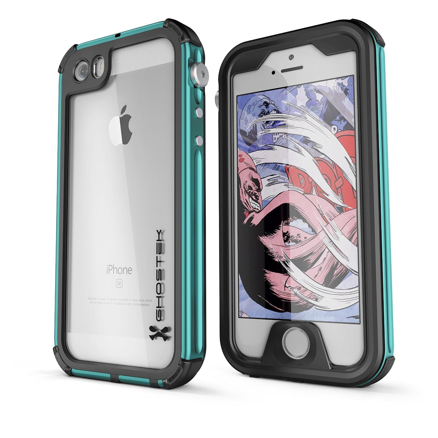 iPhone SE Waterproof Case, Ghostek® Atomic 3.0 Teal Series for Apple iPhone 5, 5S & SE